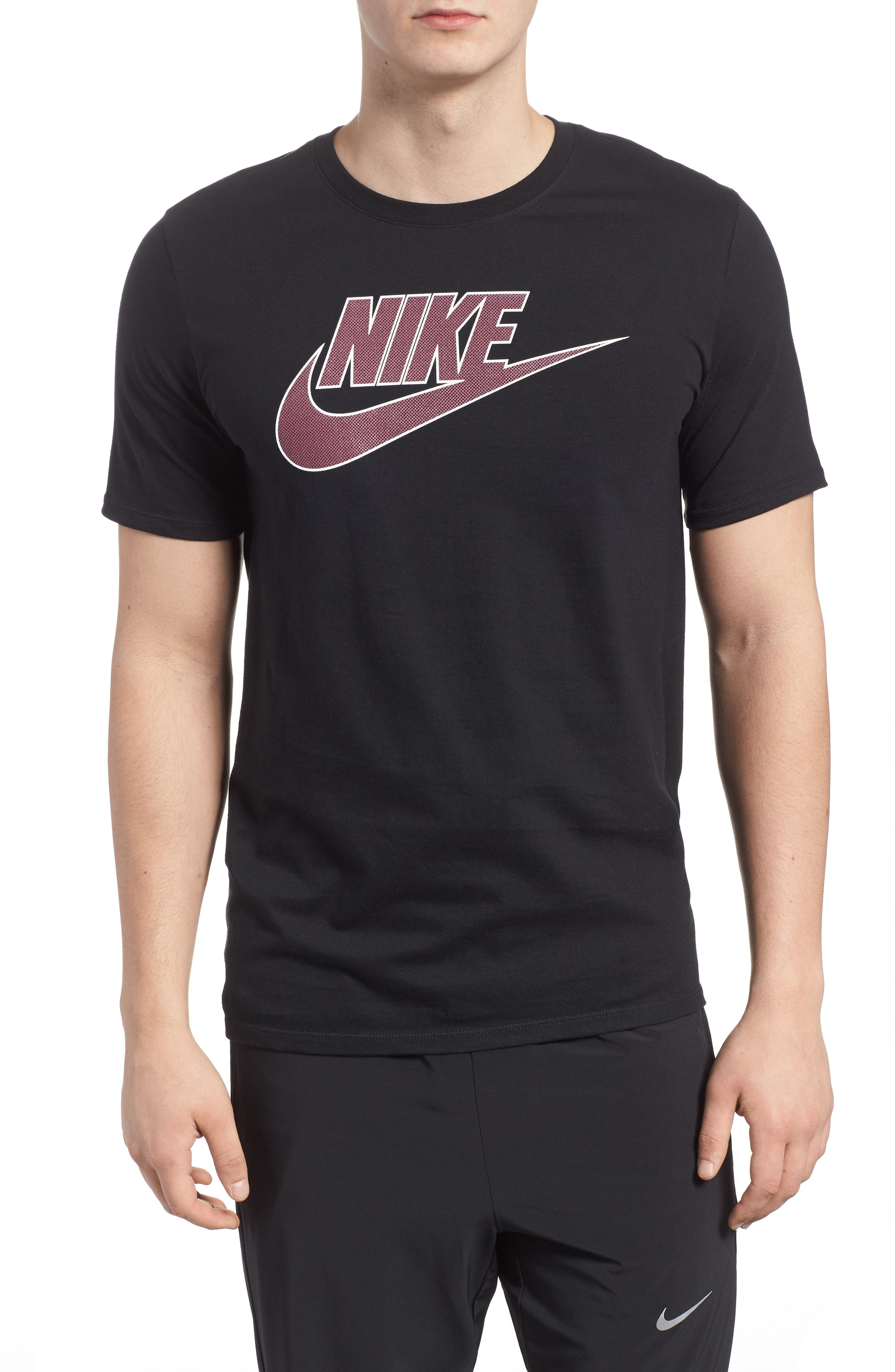 Sportswear Futura Logo Graphic T-Shirt,                             Main thumbnail 1, color,                             Black/ Vintage Wine
