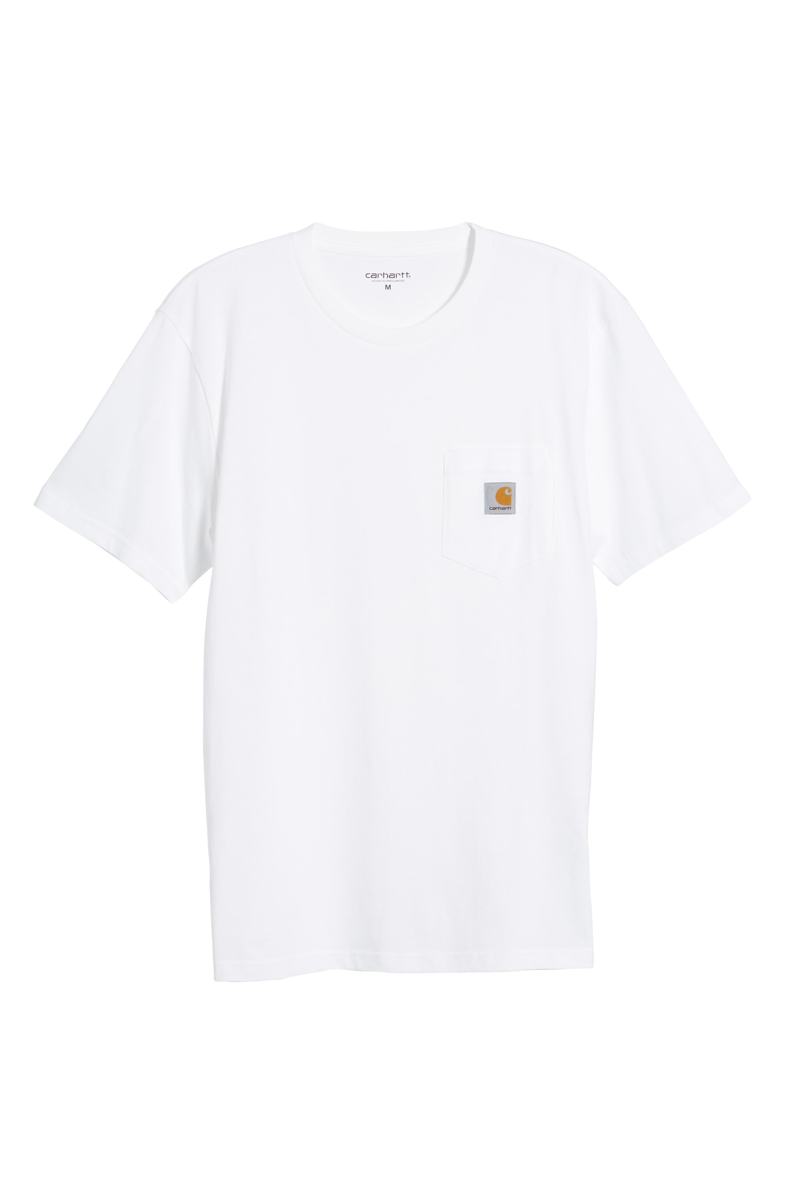 Logo Pocket T-Shirt,                             Alternate thumbnail 6, color,                             White