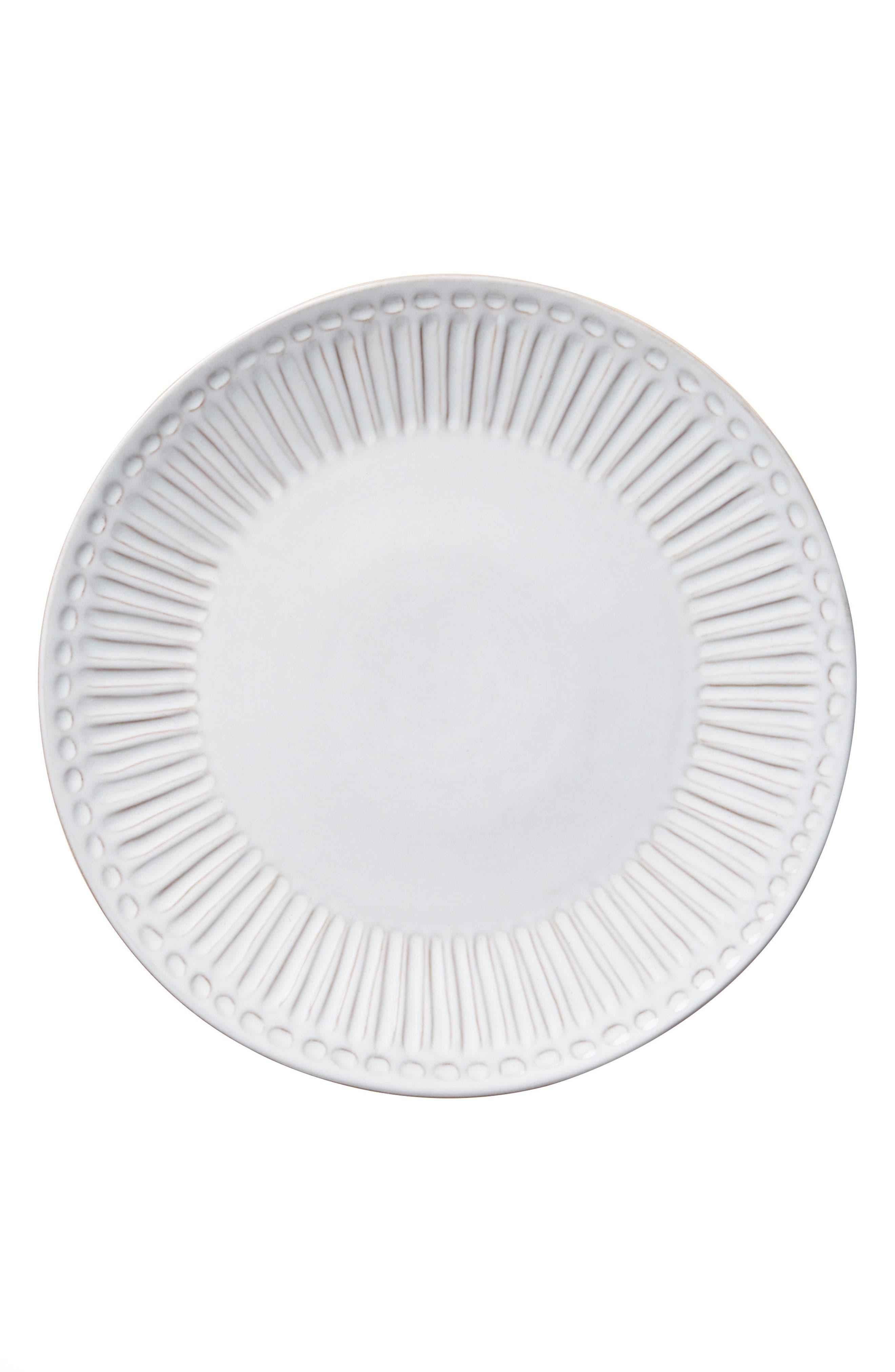 Elana Dinner Plate,                             Alternate thumbnail 2, color,                             White