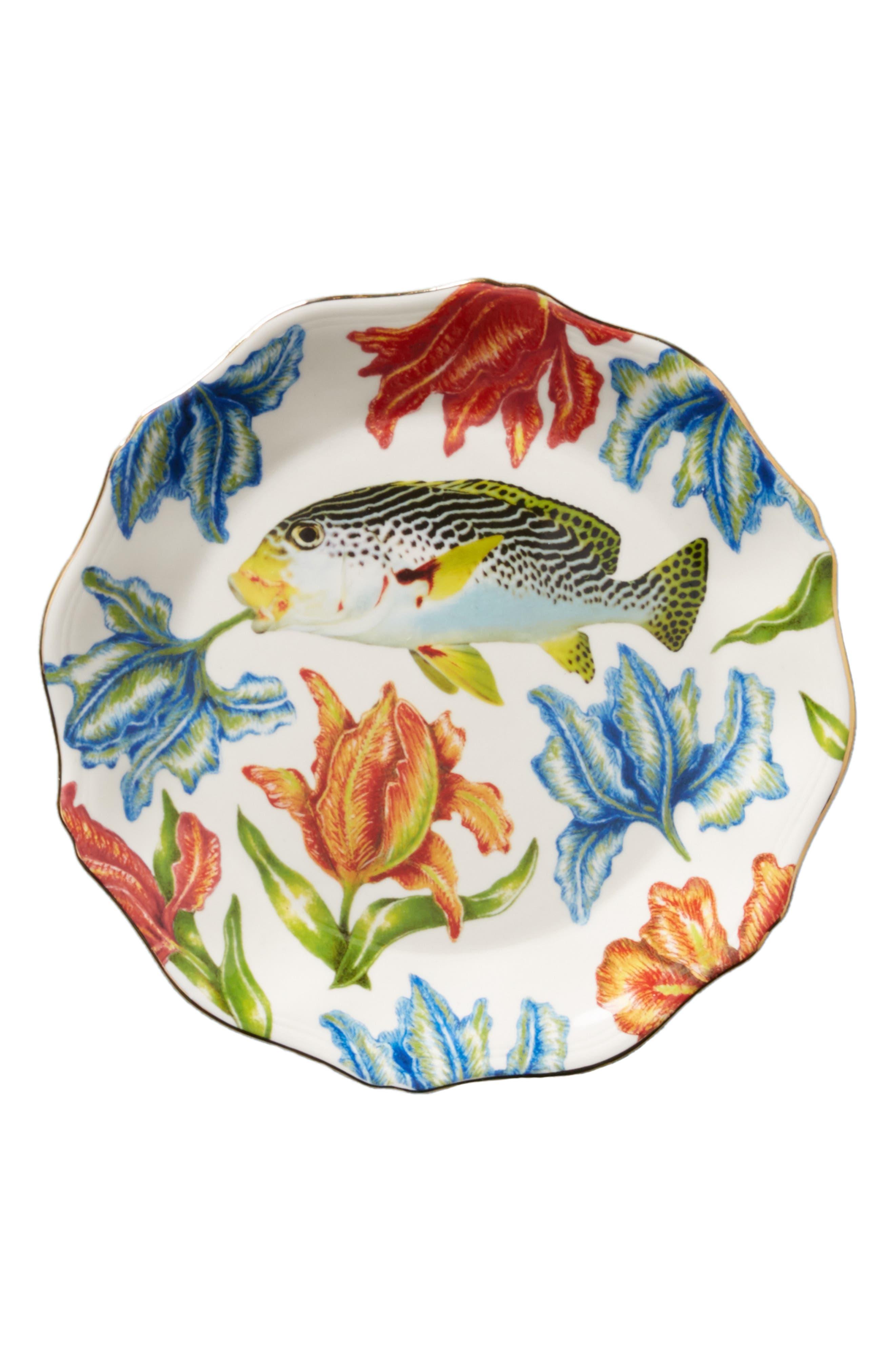 Nature Table Dessert Plate,                             Alternate thumbnail 3, color,                             Fish