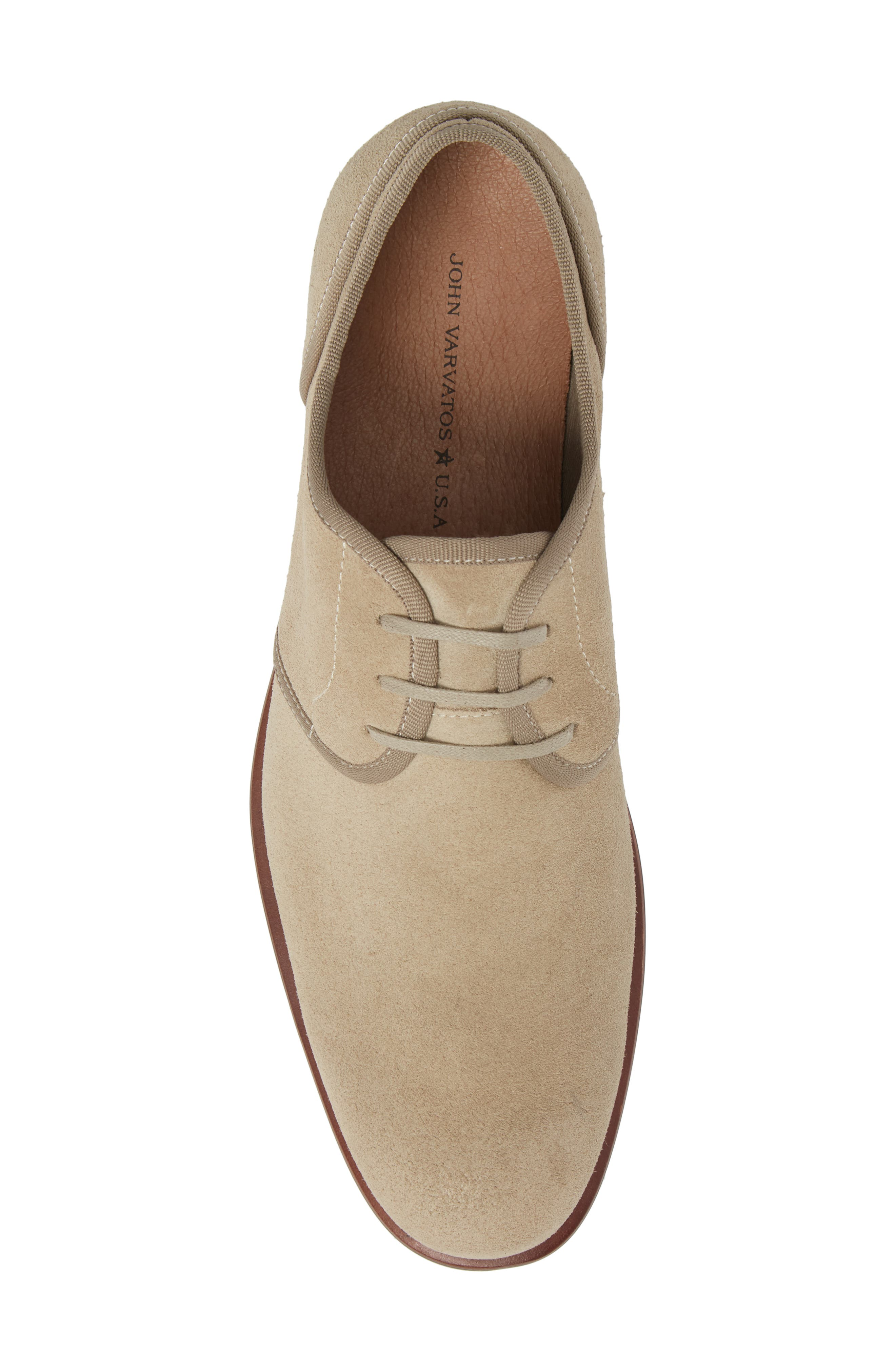 John Varvatos Star USA Seagher Plain Toe Derby,                             Alternate thumbnail 5, color,                             Lt. Brown