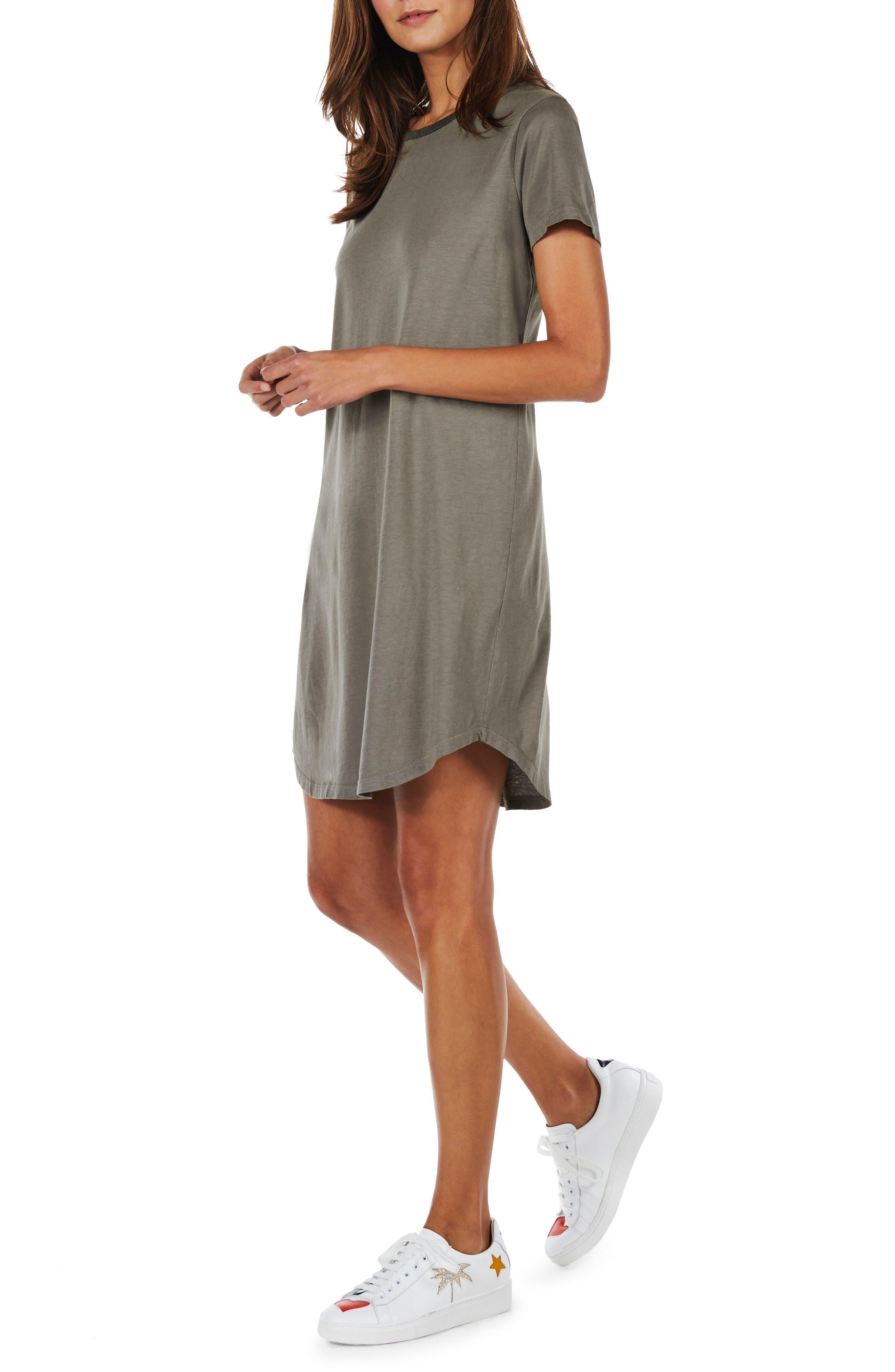 Ringer T-Shirt Dress,                             Alternate thumbnail 3, color,                             Camo