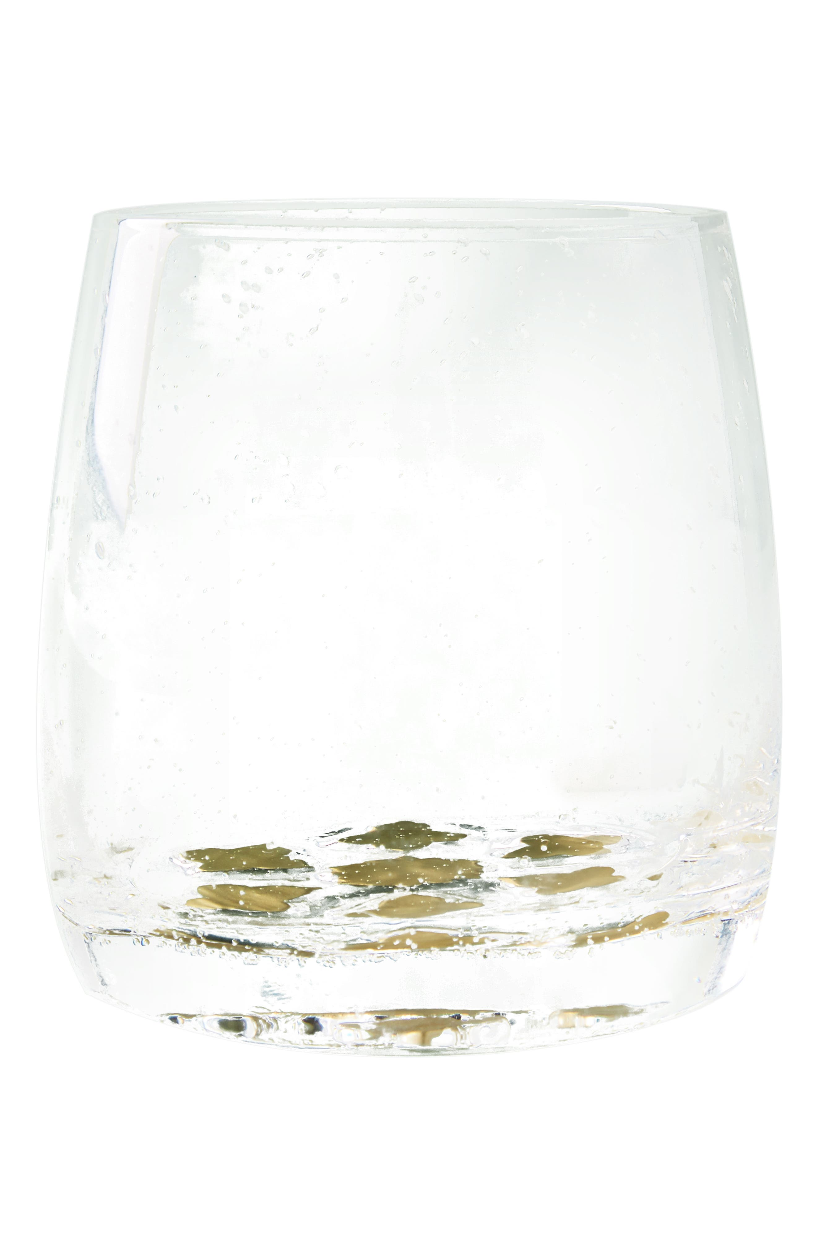Bella Double Old-Fashioned Glass,                             Alternate thumbnail 4, color,                             Gold