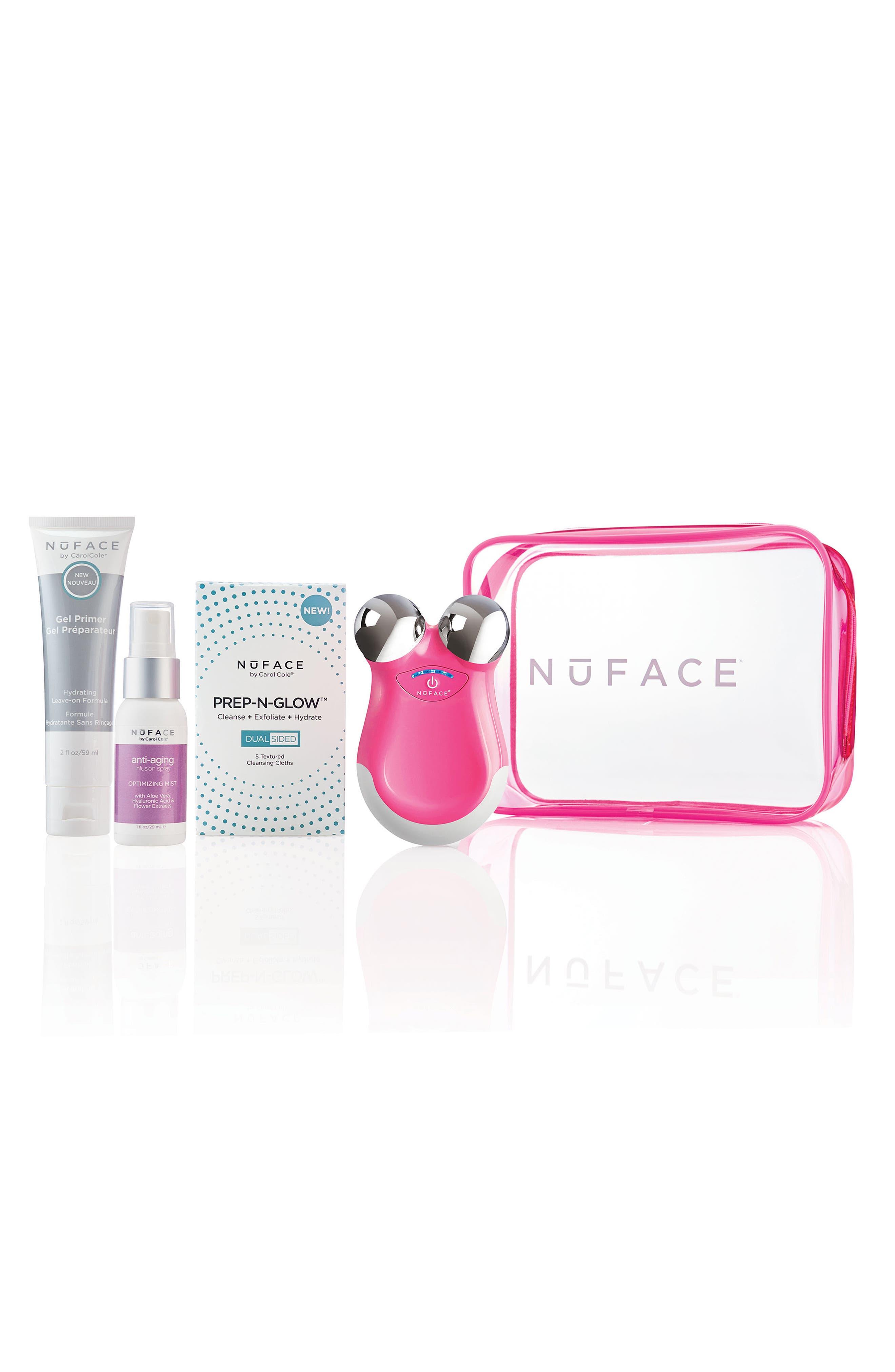 NuFACE mini Electric Pink Set,                             Main thumbnail 1, color,                             No Color