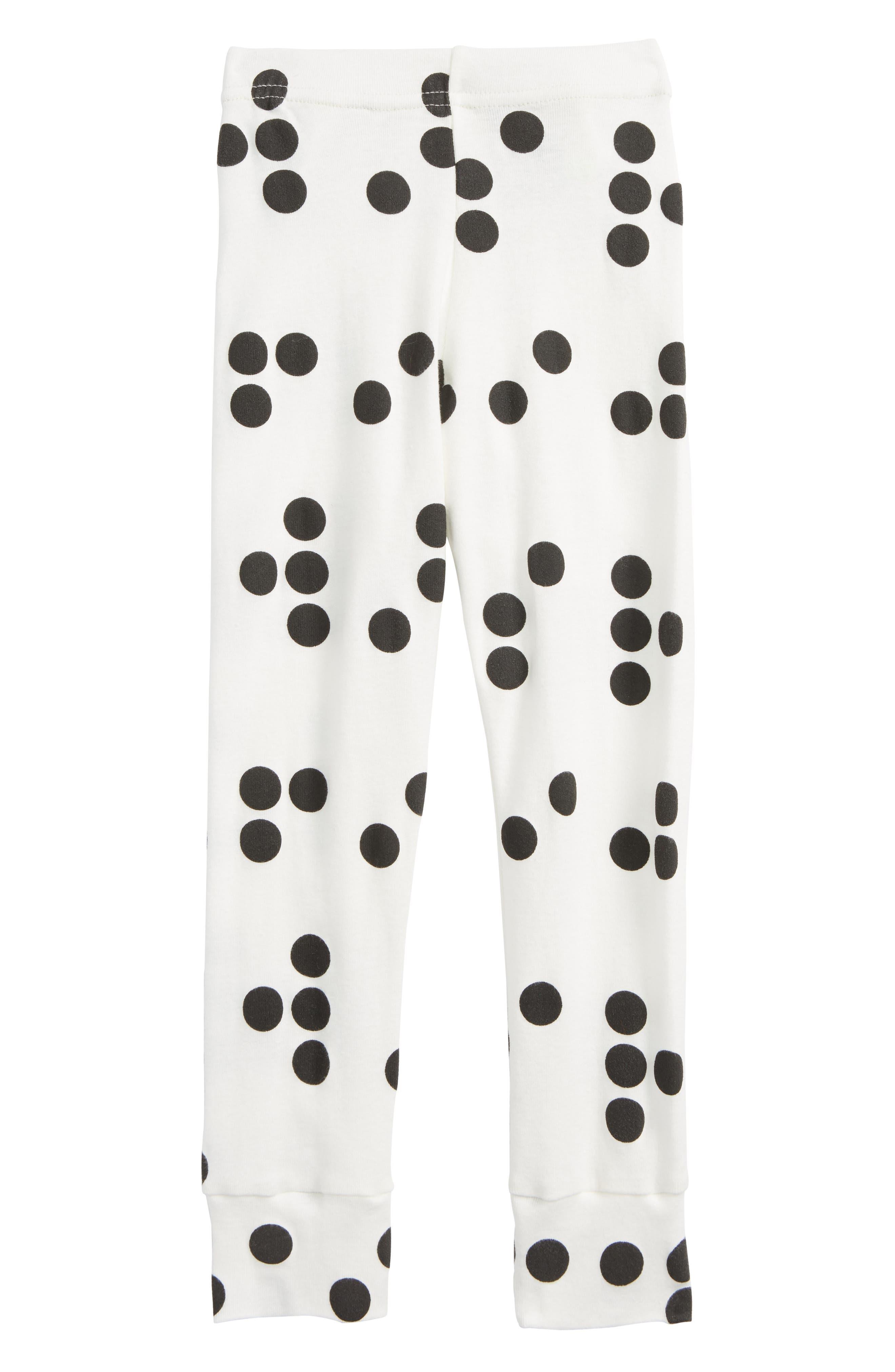 Braille Dot Leggings,                             Main thumbnail 1, color,                             White