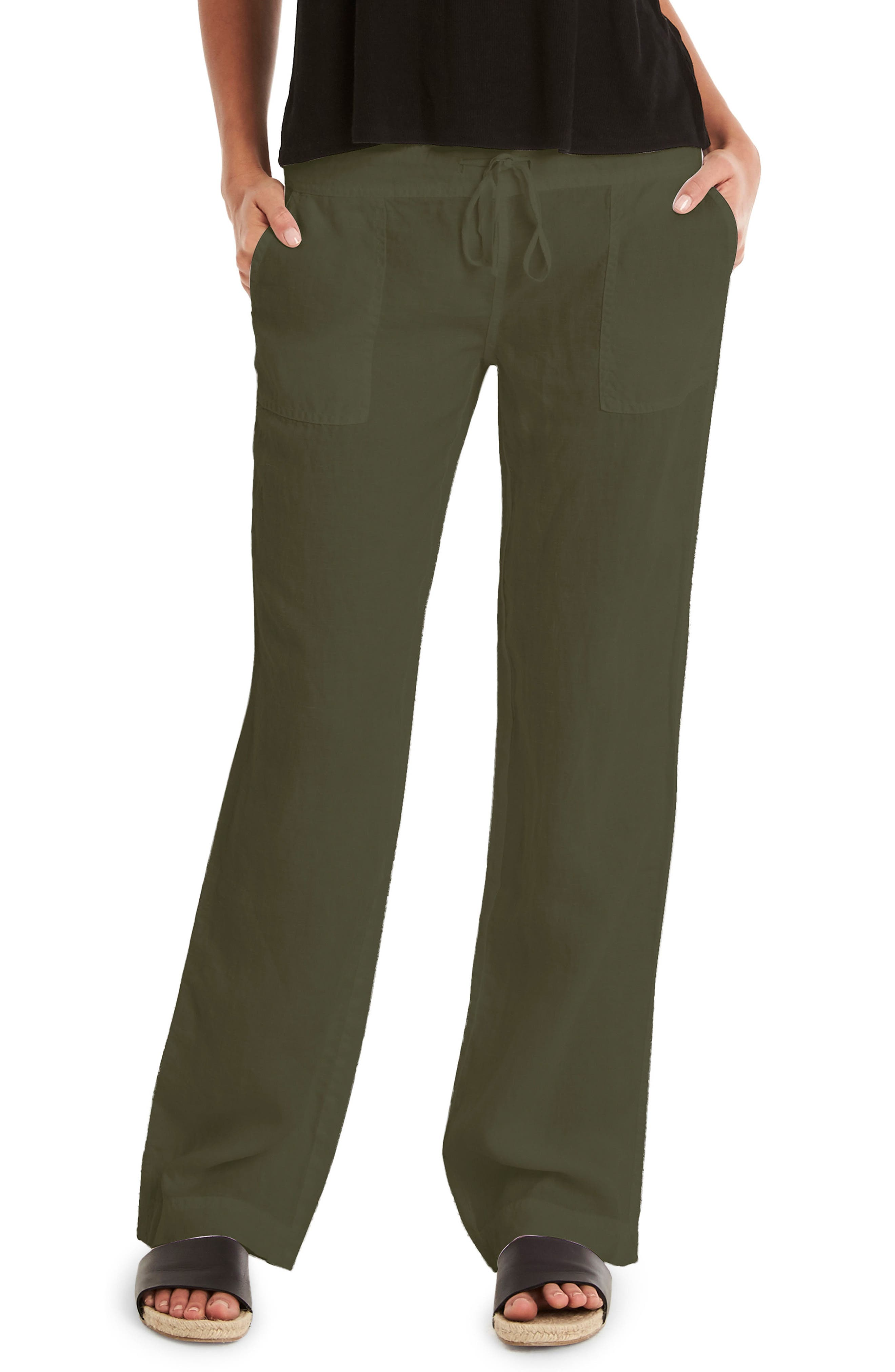 Michael Stars Linen Wide Leg Pants