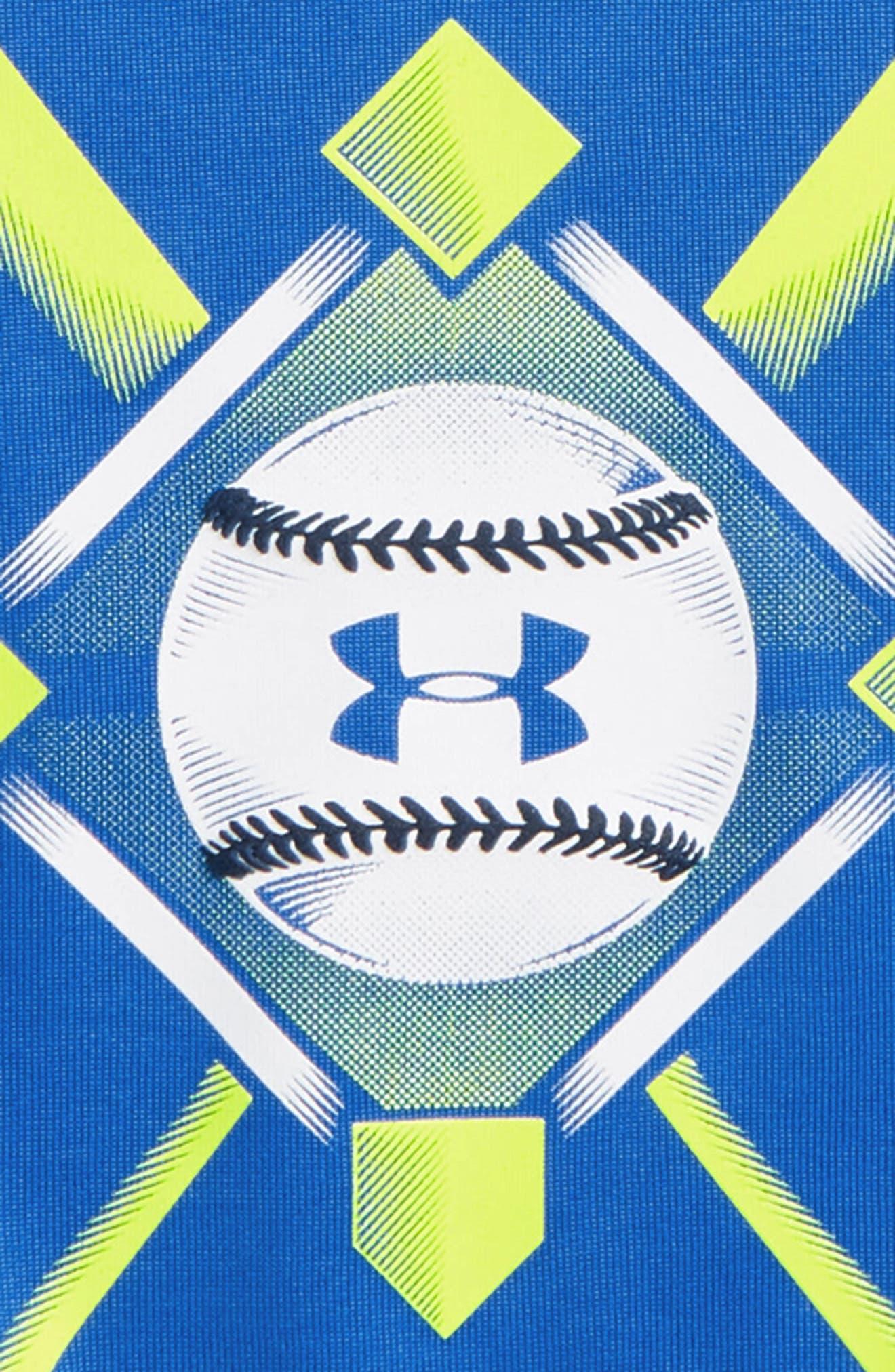 Baseball Anthem Graphic HeatGear<sup>®</sup> T-Shirt,                             Alternate thumbnail 2, color,                             Mediterranean