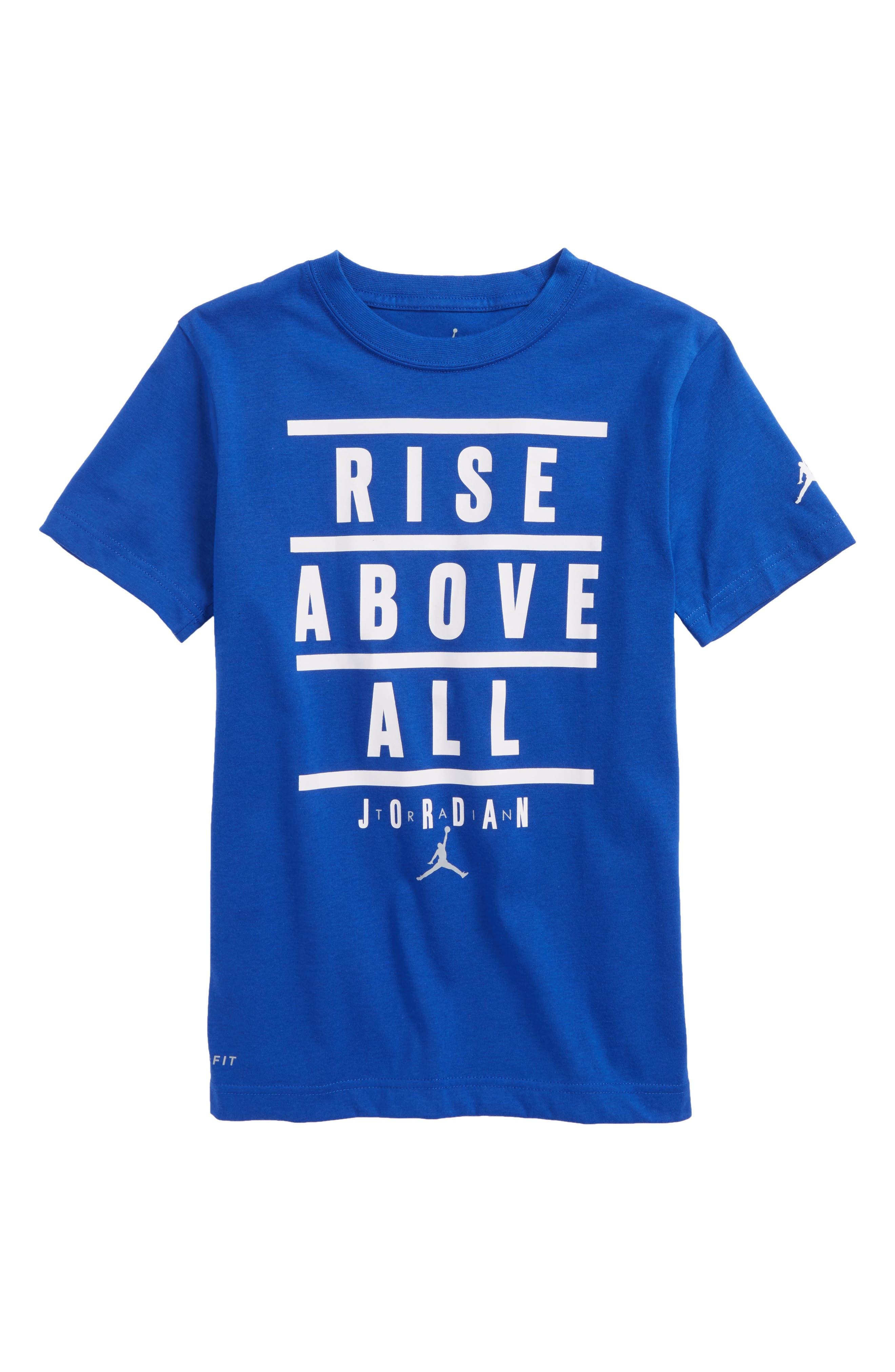 Jordan Rise Above All Graphic Dry T-Shirt,                         Main,                         color, Hyper Royal