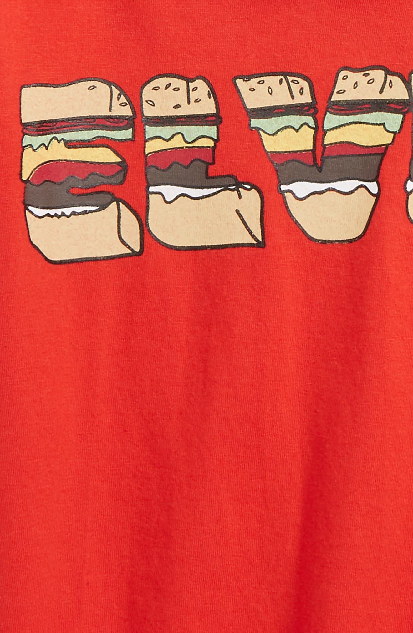 Little ELEVENPARIS HTV T-Shirt,                             Alternate thumbnail 2, color,                             Red