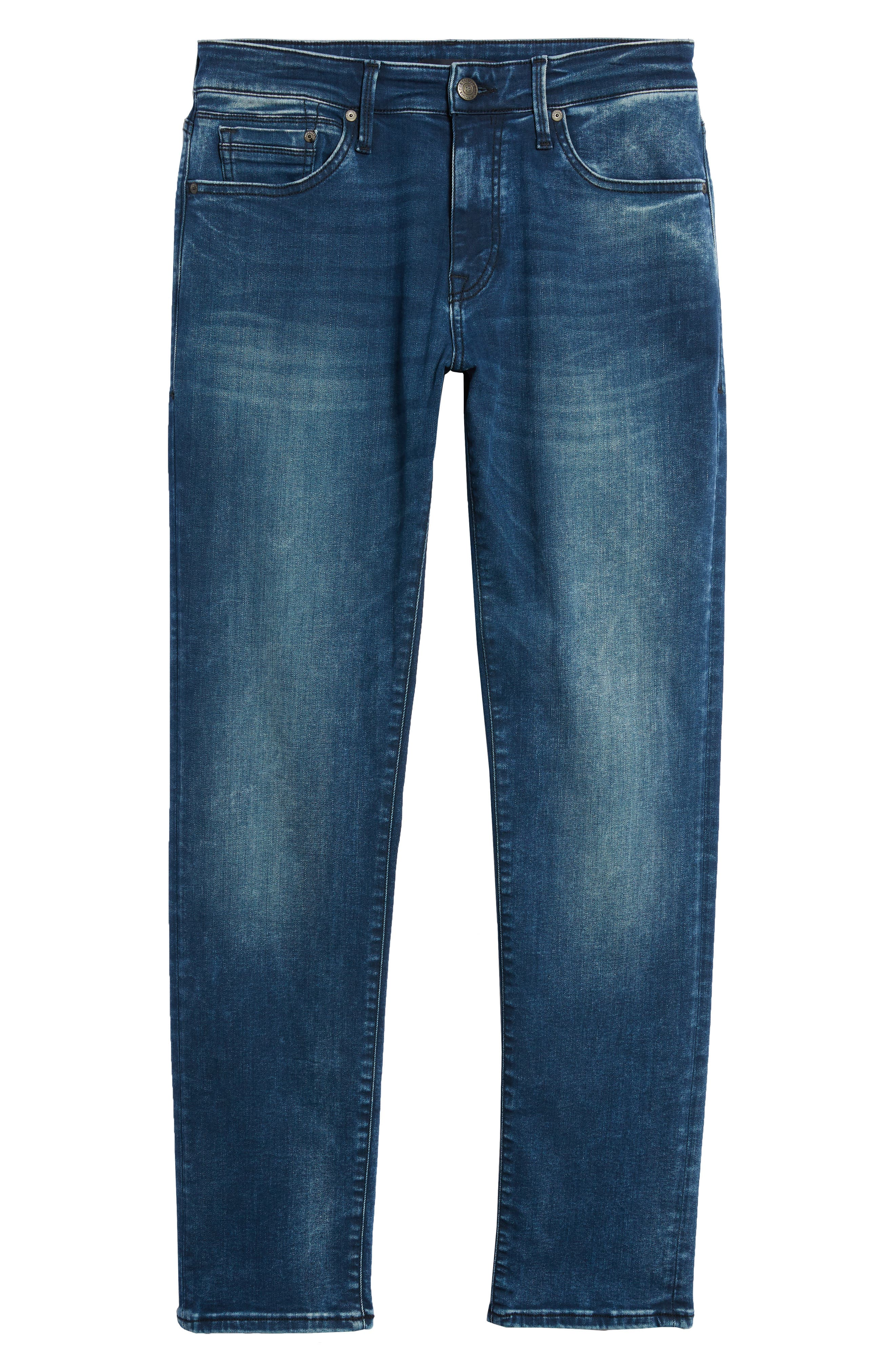 Marcus Slim Straight Leg Jeans,                             Alternate thumbnail 6, color,                             Forest Blue Williamsburg
