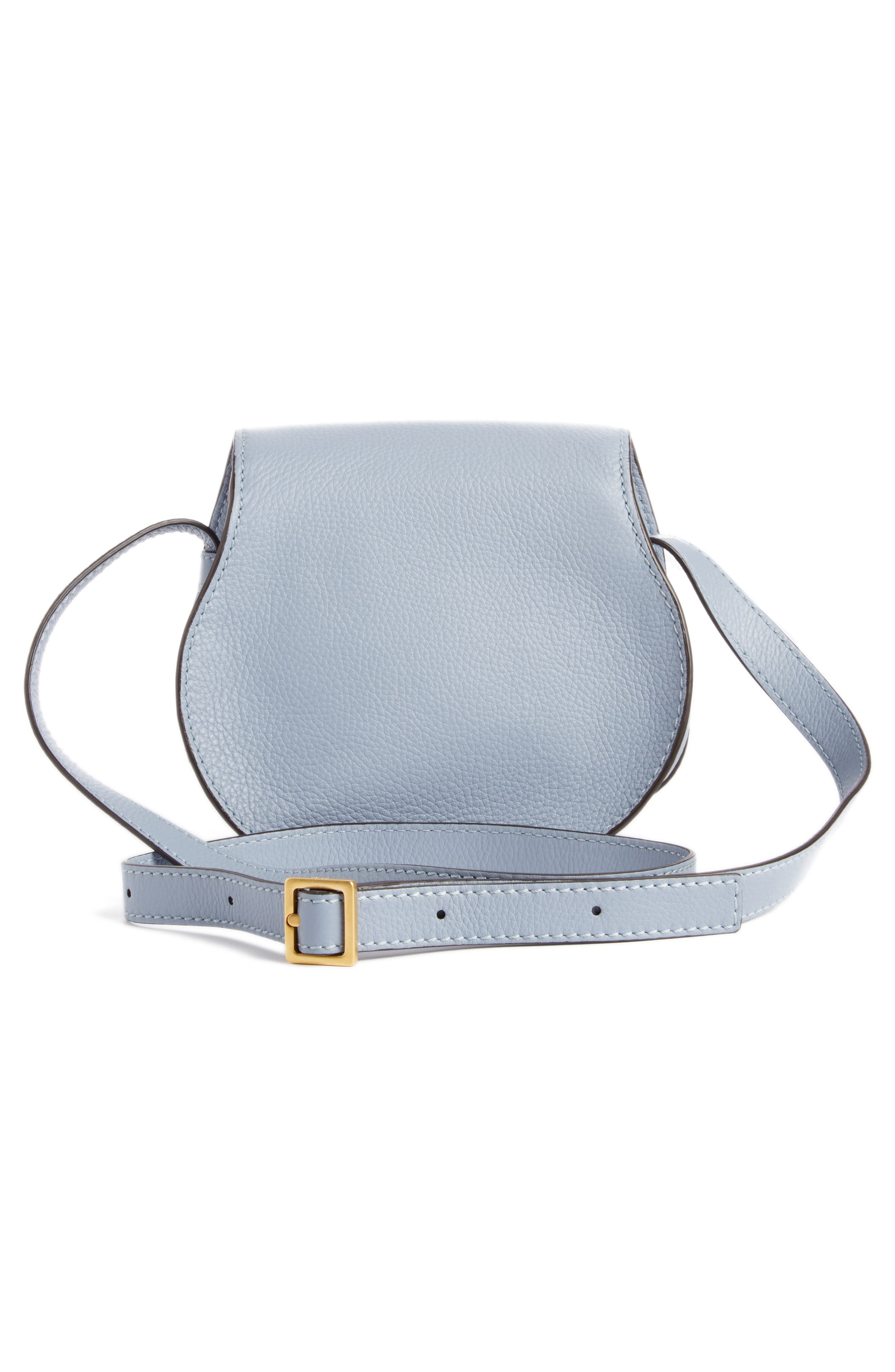 'Mini Marcie' Leather Crossbody Bag,                             Alternate thumbnail 3, color,                             Washed Blue
