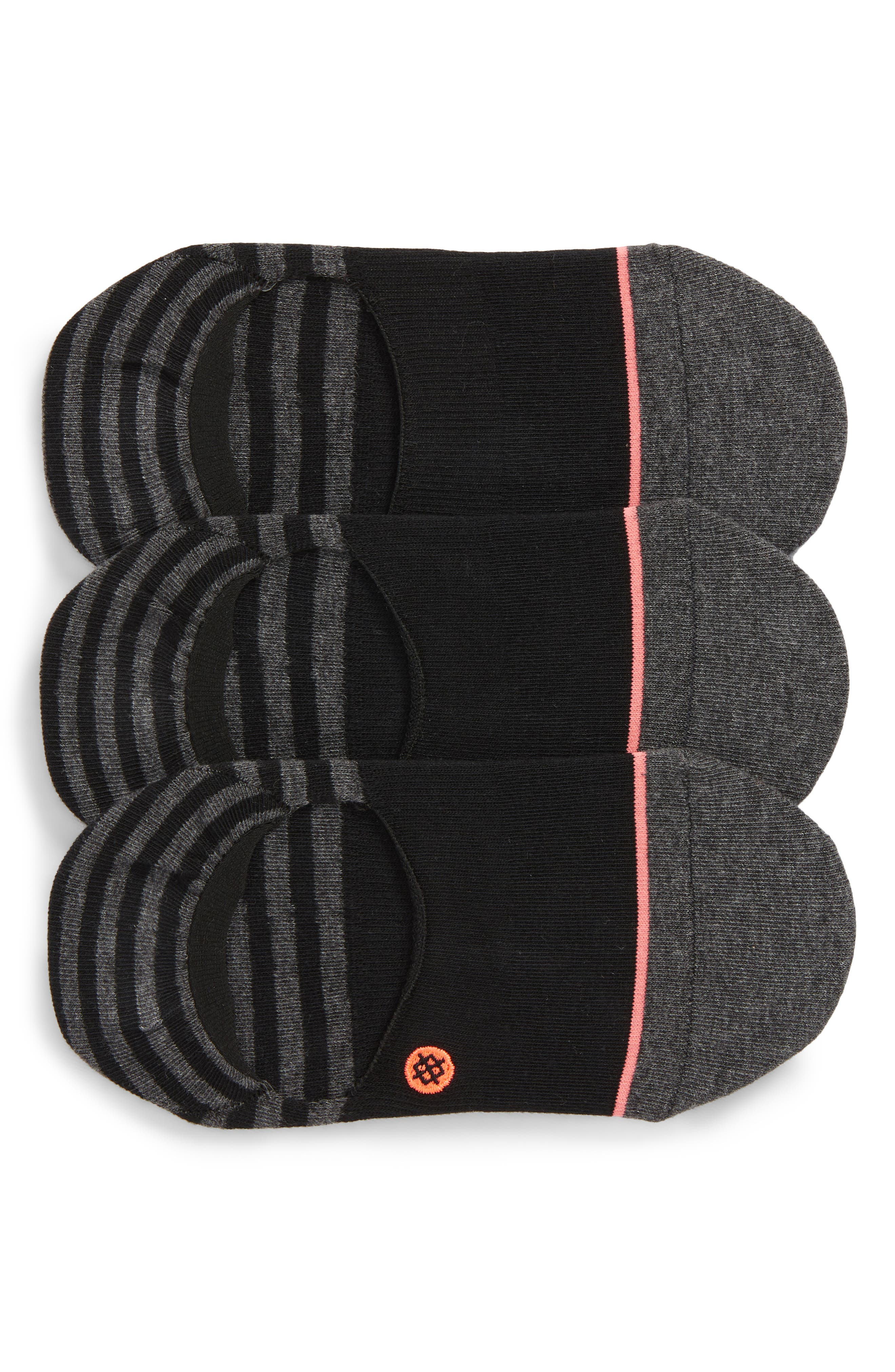 Invisible 3-Pack No-Show Socks,                         Main,                         color, Black