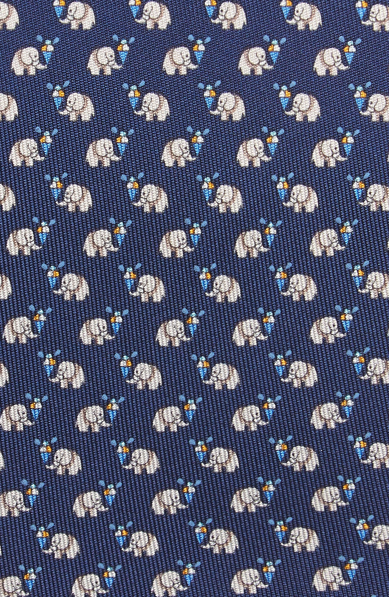 Euforia Print Silk Tie,                             Alternate thumbnail 2, color,                             Navy