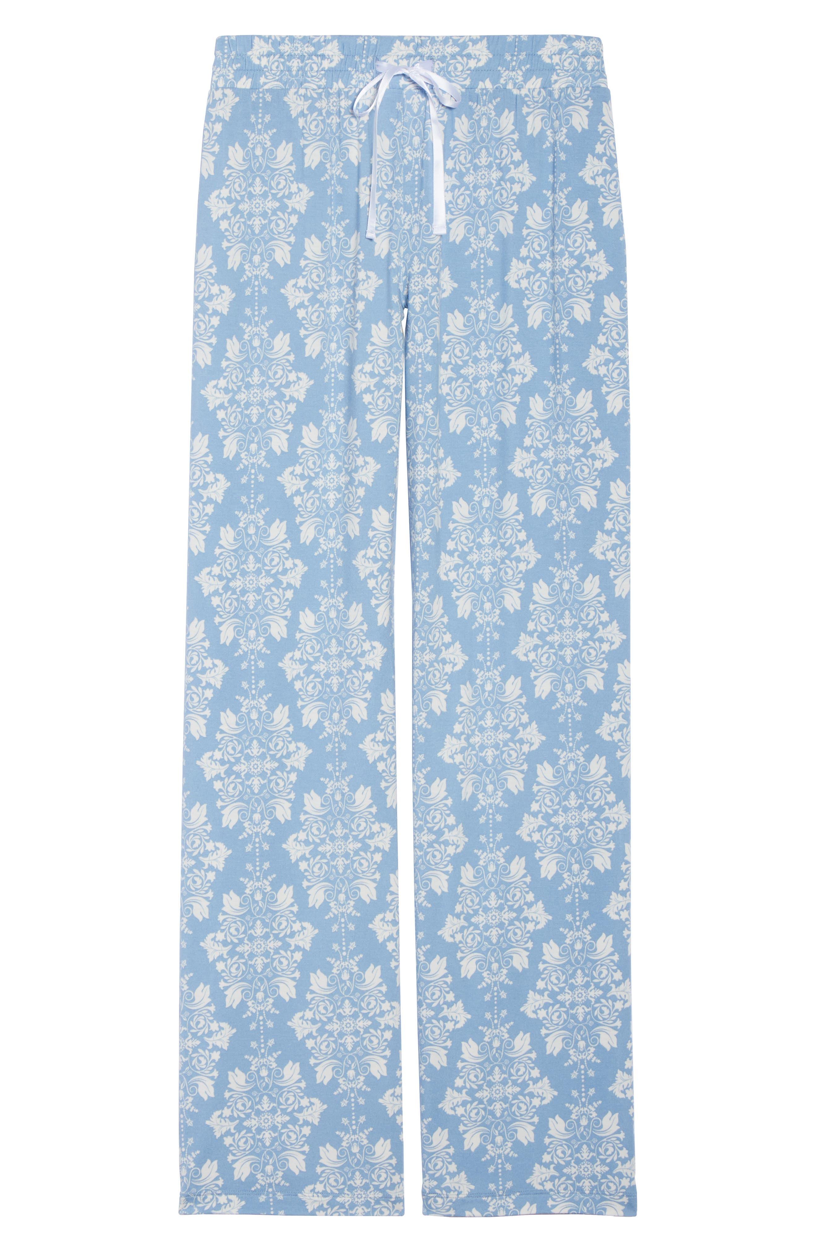 Jersey Pajama Pants,                             Alternate thumbnail 4, color,                             Blue