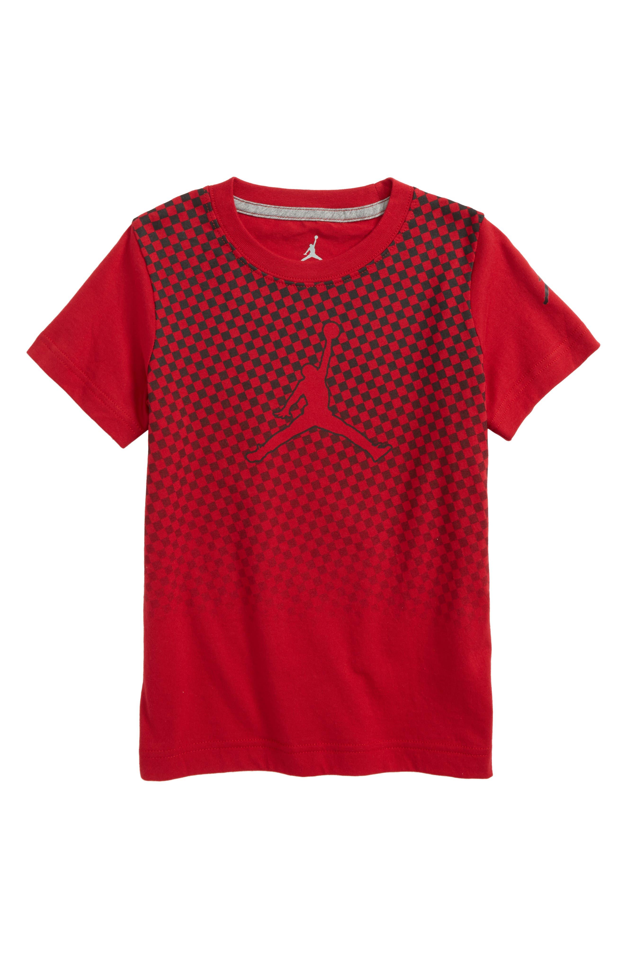 Jordan Carbon High T-Shirt,                             Main thumbnail 1, color,                             Gym Red