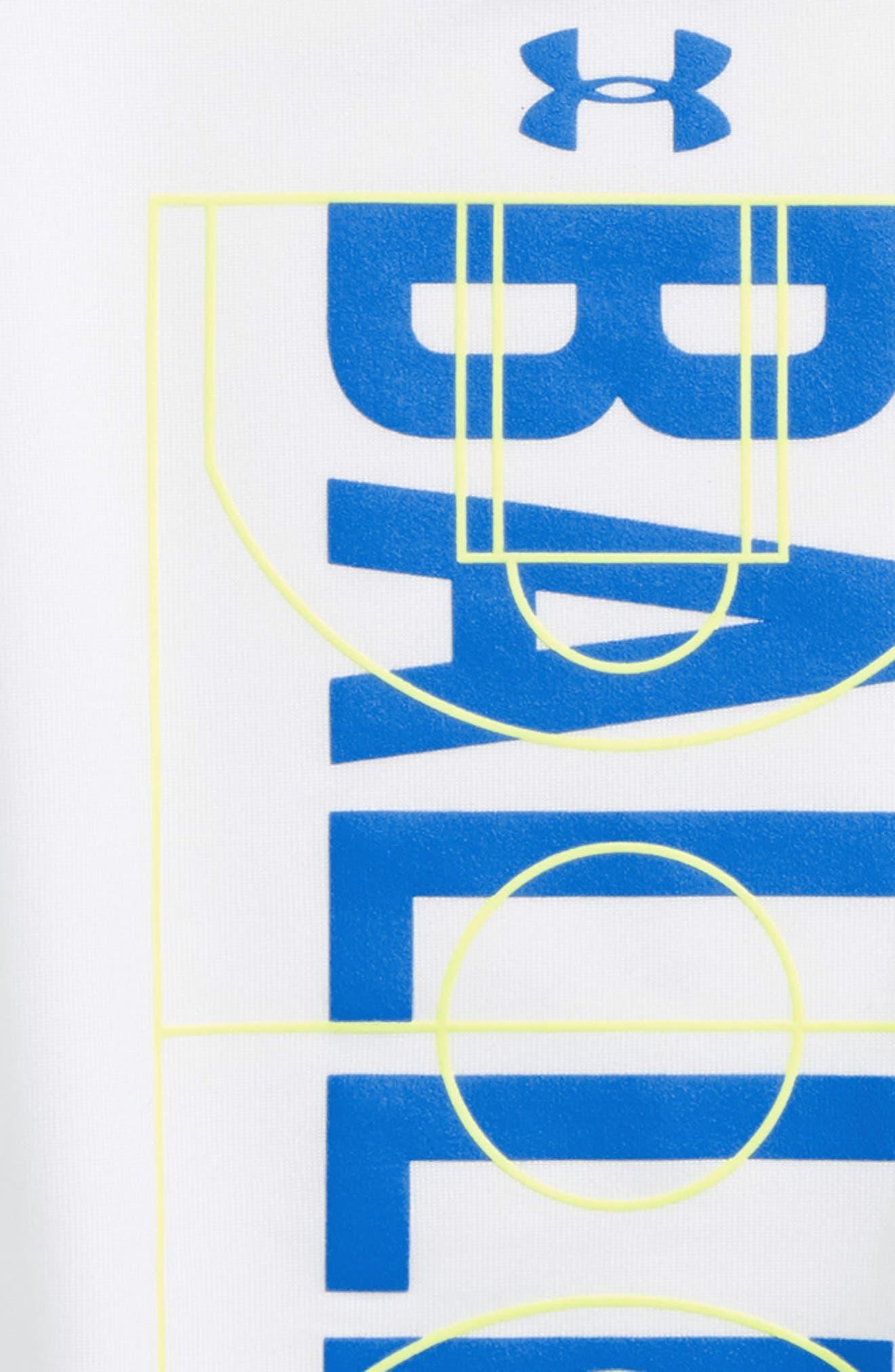 Baller HeatGear<sup>®</sup> Glow-in-the-Dark T-Shirt,                             Alternate thumbnail 2, color,                             White