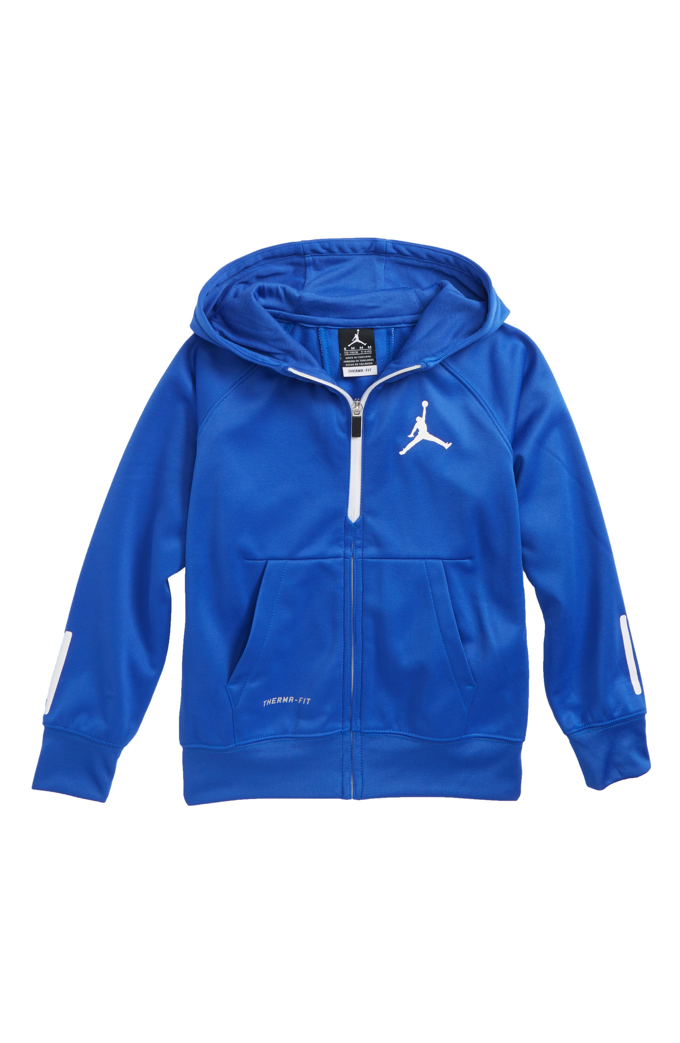 Jordan Dry 23 Alpha FZ Therma-FIT Zip Hoodie,                             Main thumbnail 1, color,                             Hyper Royal