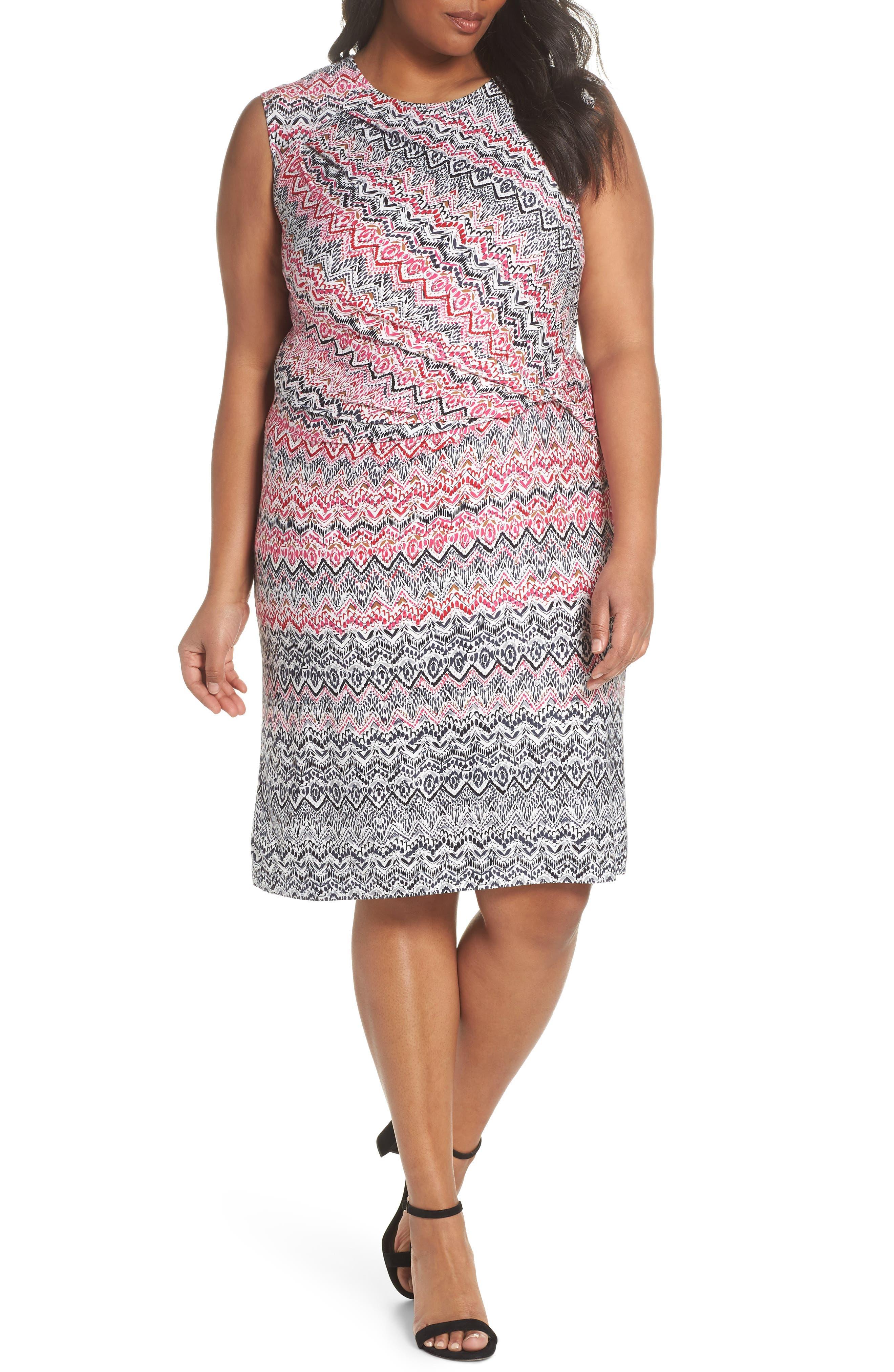 NIC+ZOE Spiced Up Twist Sheath Dress (Plus Size)