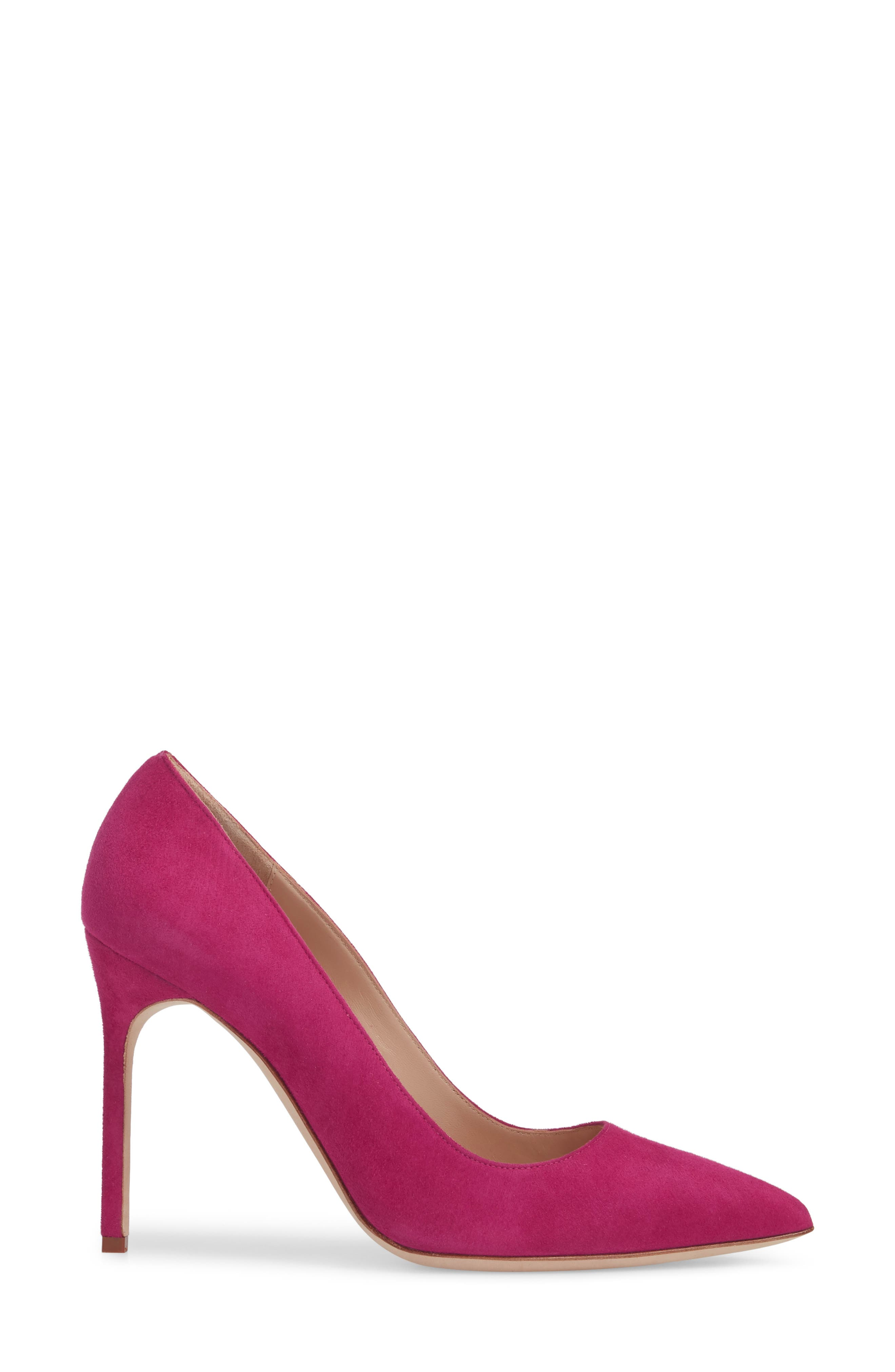 'BB' Pointy Toe Pump,                             Alternate thumbnail 3, color,                             Magenta