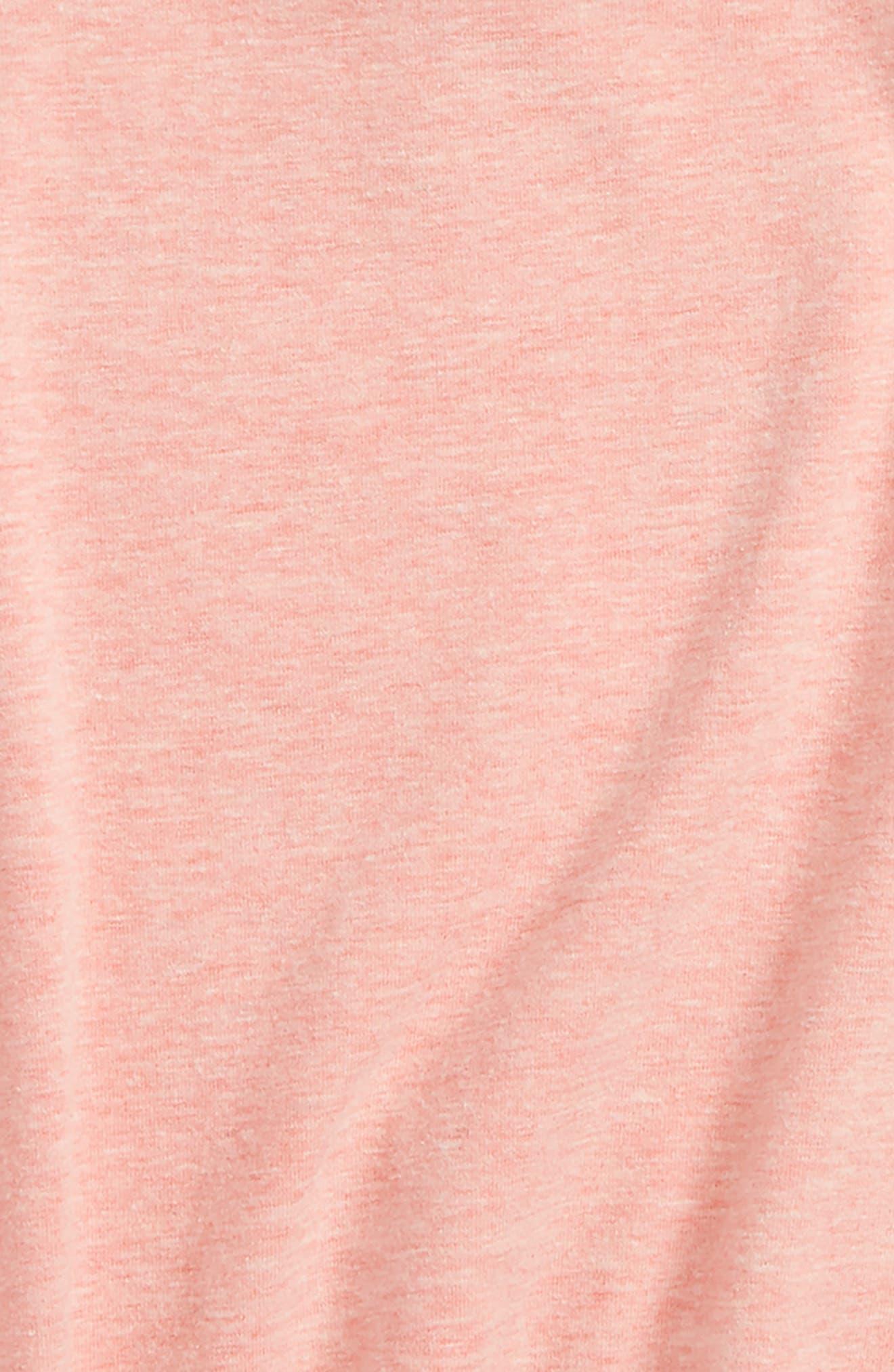 Tie Sleeve Tee,                             Alternate thumbnail 2, color,                             Pink Geranium Heather
