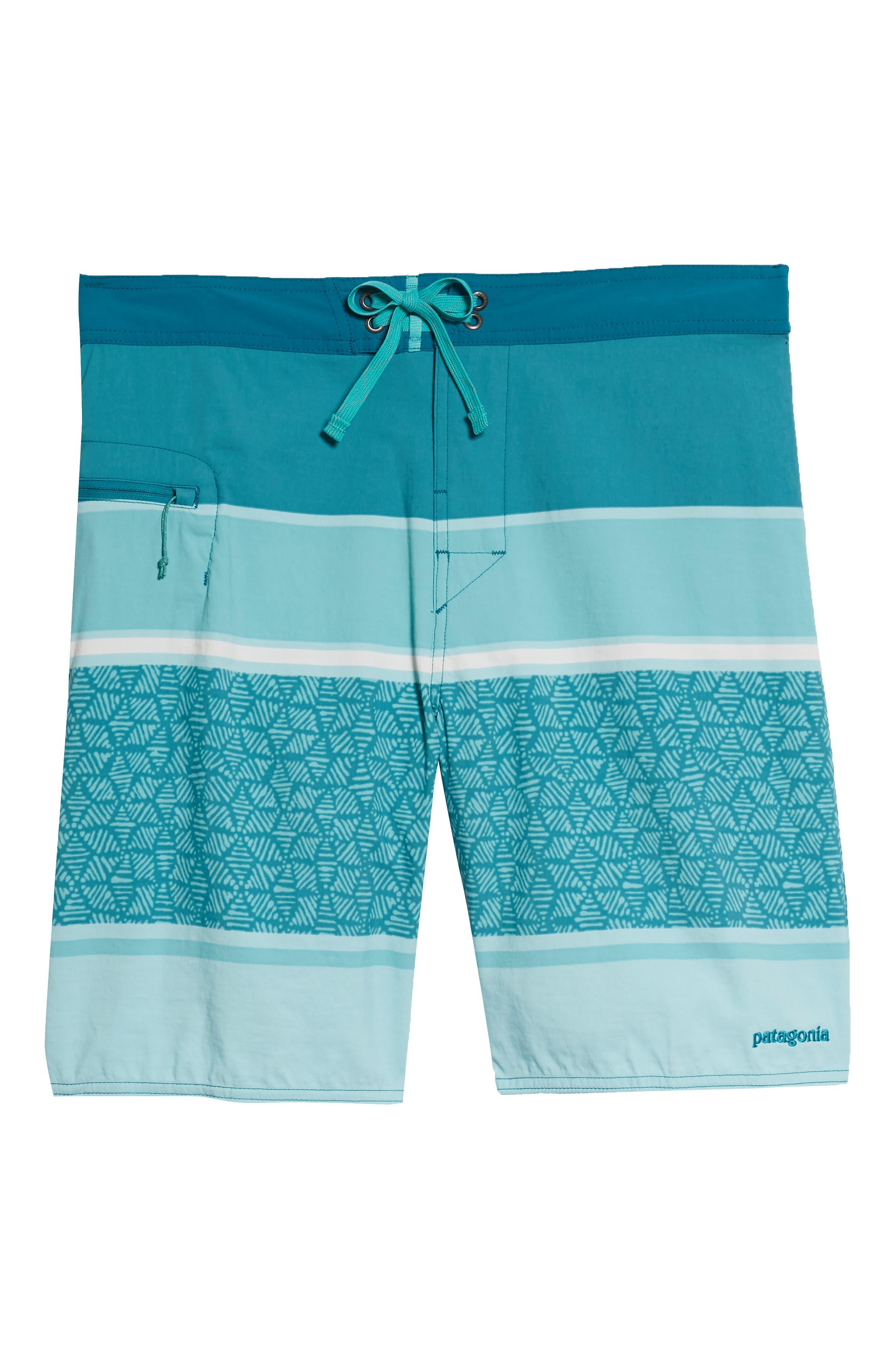 Wavefarer Board Shorts,                             Alternate thumbnail 6, color,                             Batik Hex Stripe Bend Blue
