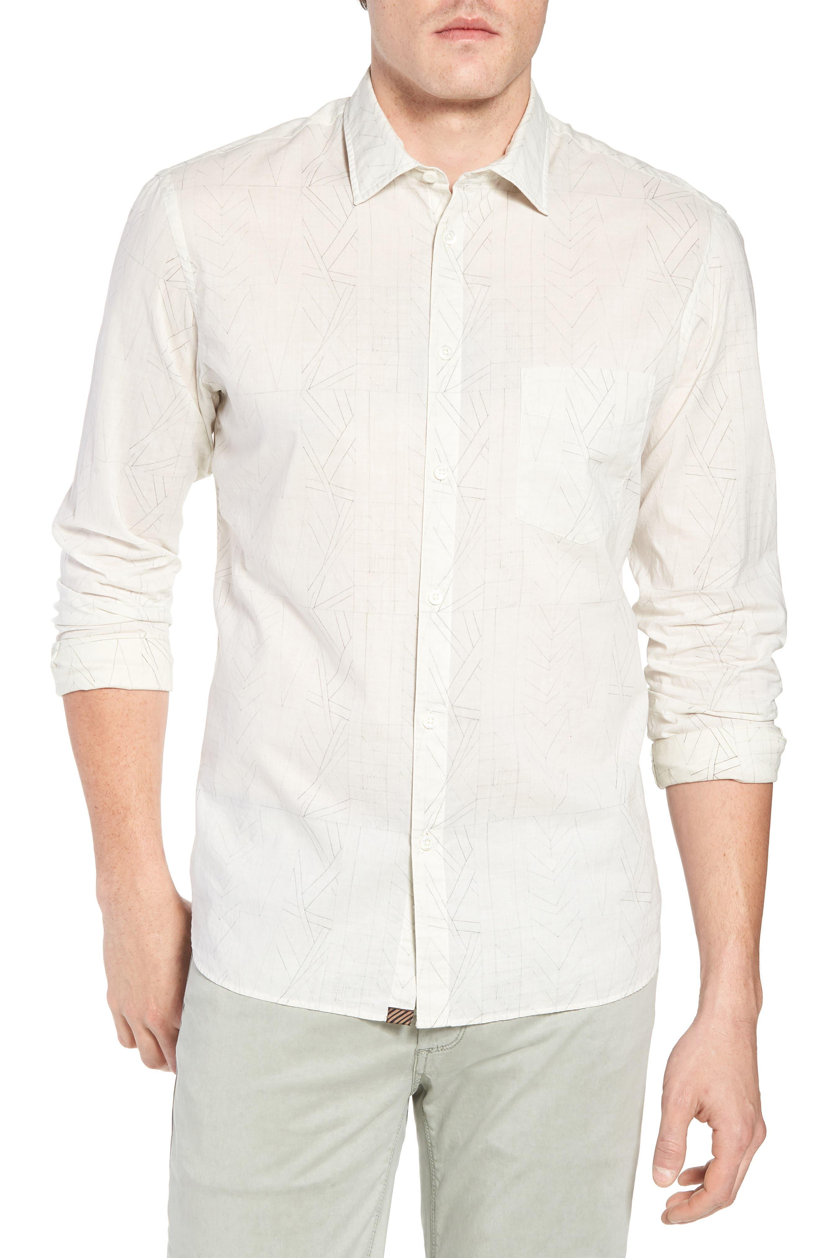John Sport Shirt,                         Main,                         color, Natural