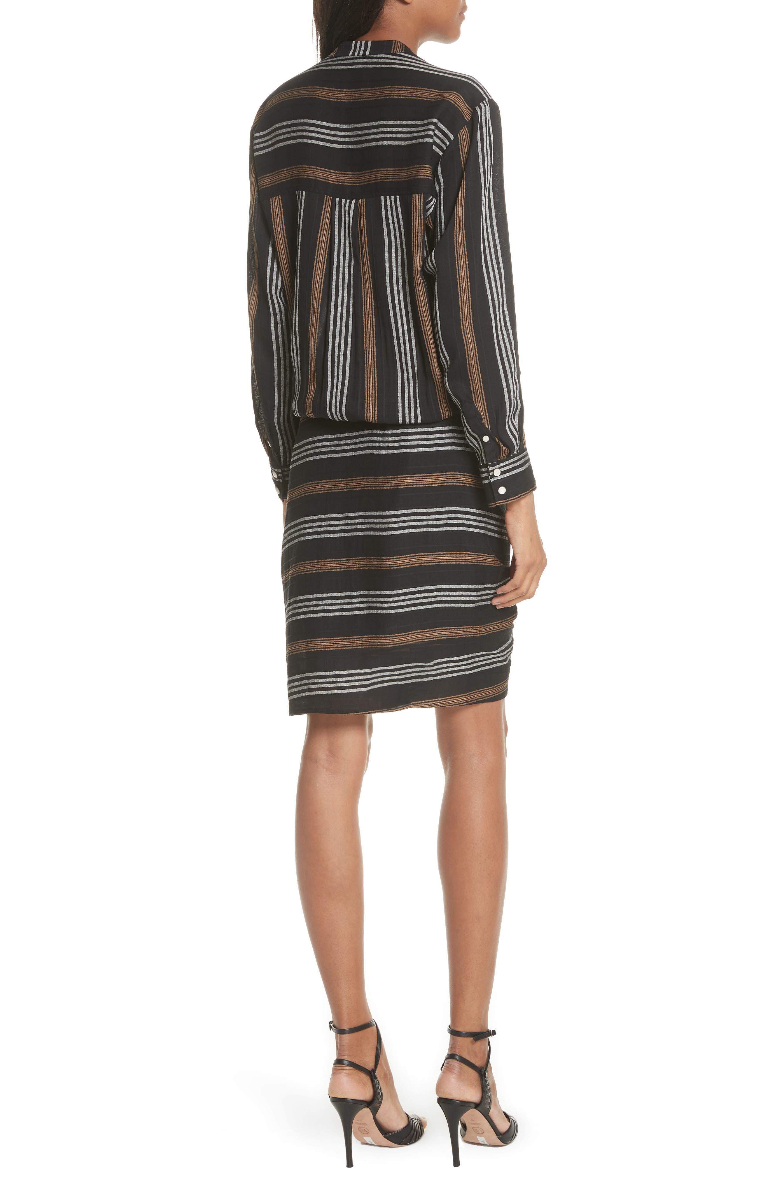 Emory Stripe Shirtdress,                             Alternate thumbnail 2, color,                             Black Multi