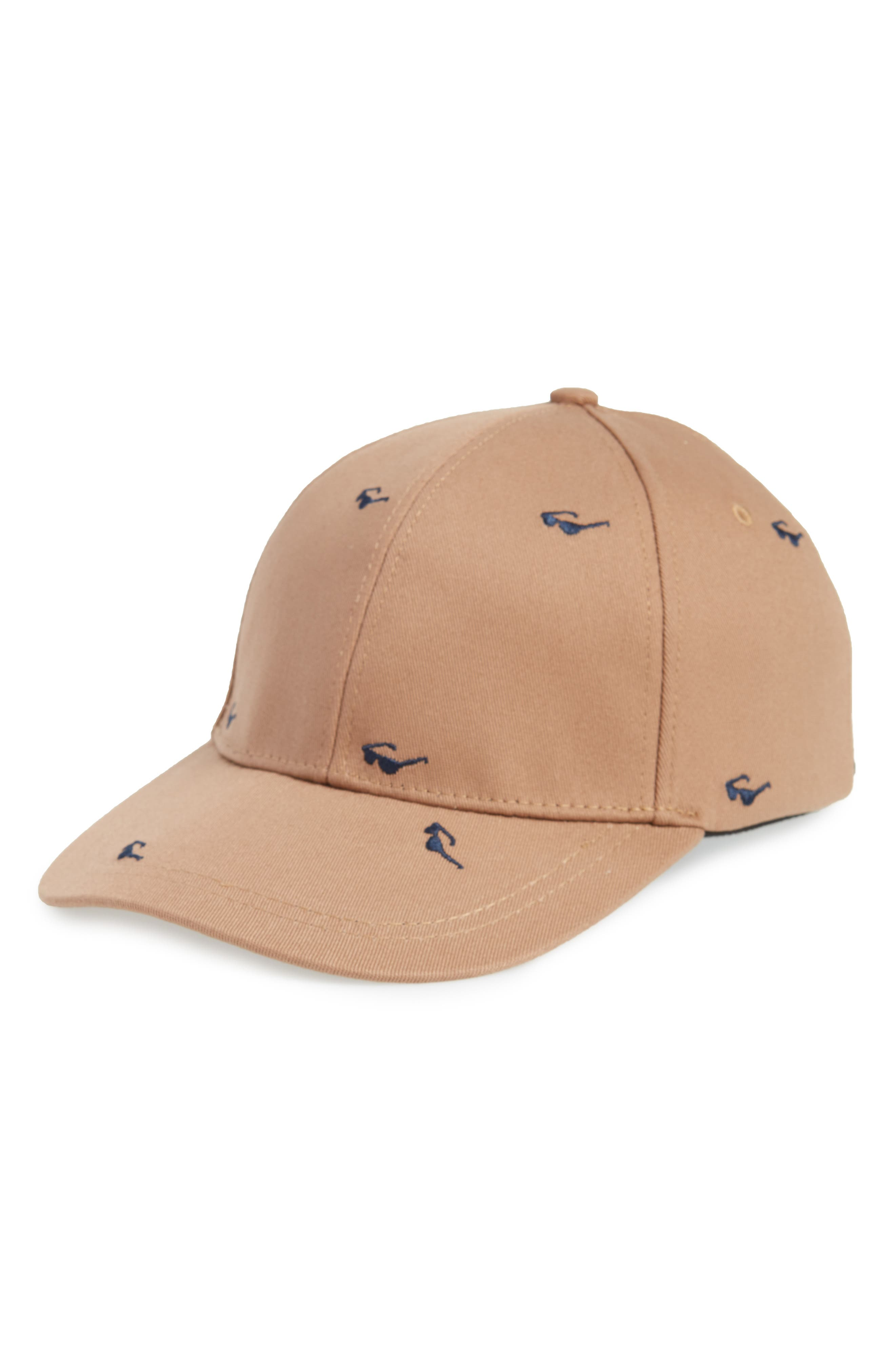 Embroidered Ball Cap,                         Main,                         color, Khaki