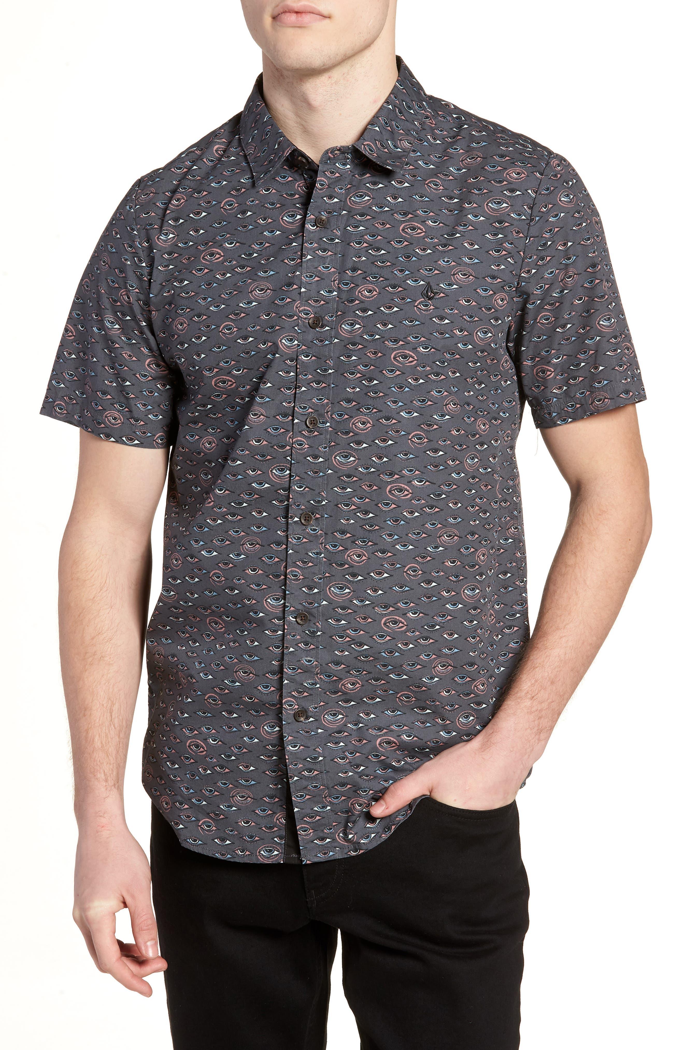 Burch Woven Shirt,                         Main,                         color, Stealth