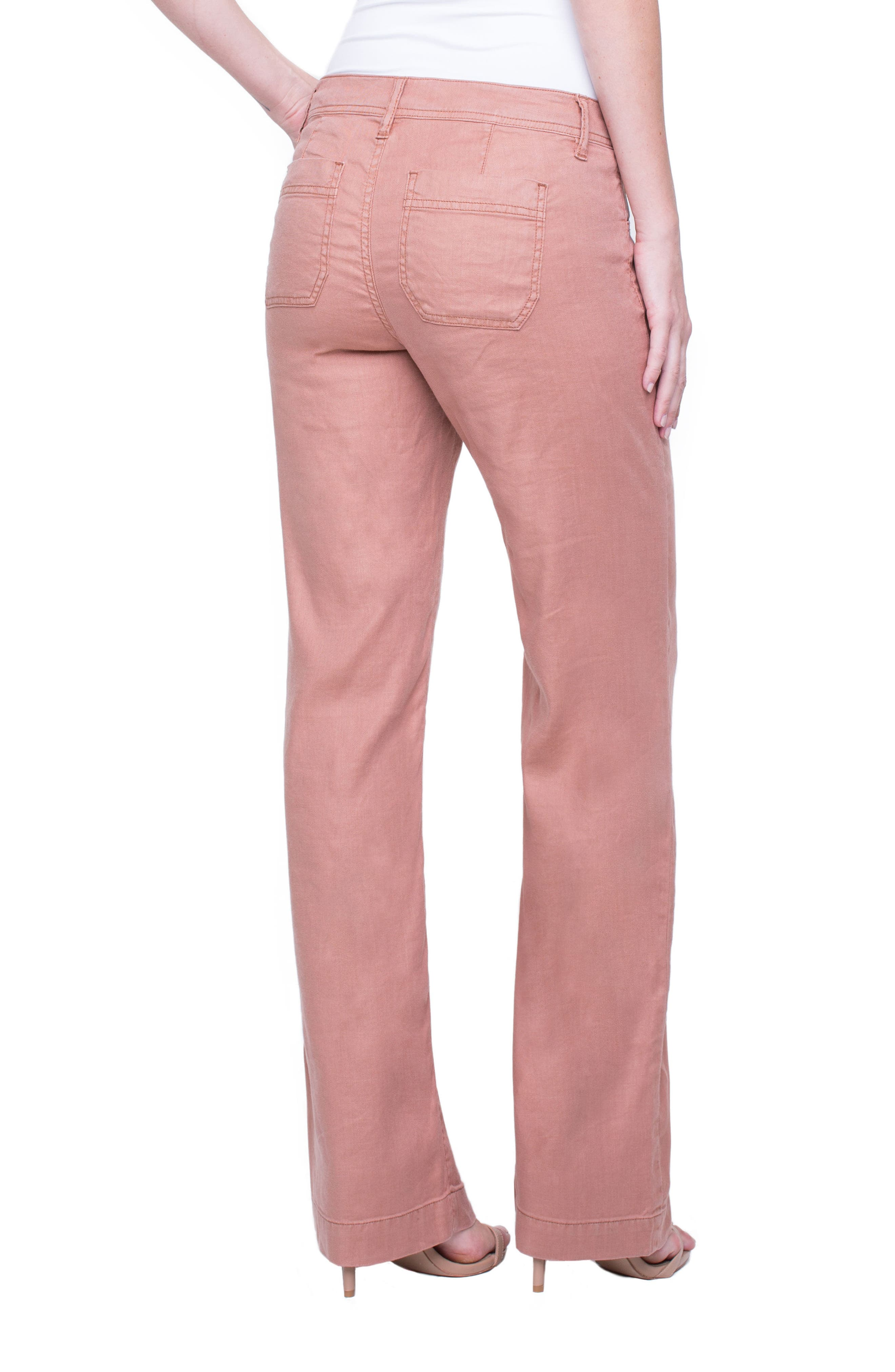 Emma Stretch Linen Pants,                             Alternate thumbnail 2, color,                             Tuscan Sunset