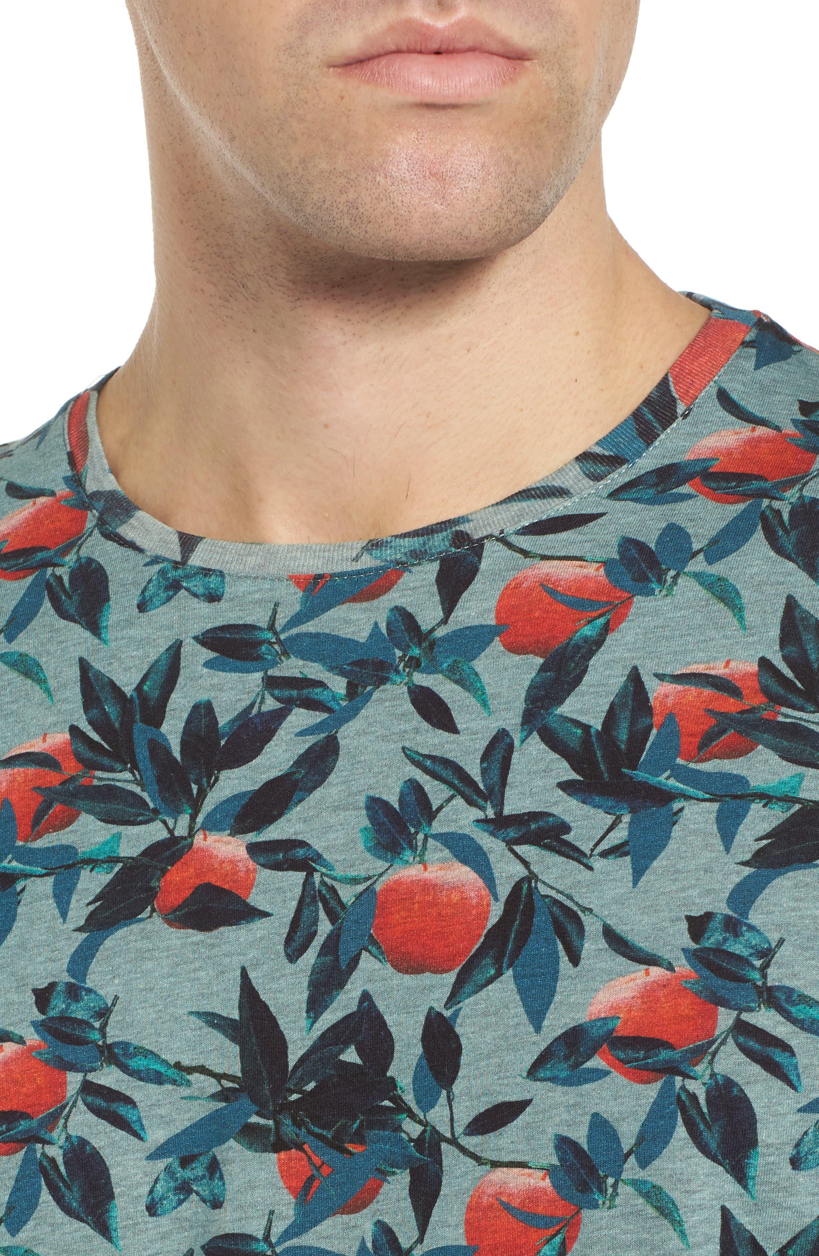 Fithe Apple Print T-Shirt,                             Alternate thumbnail 4, color,                             Light Blue