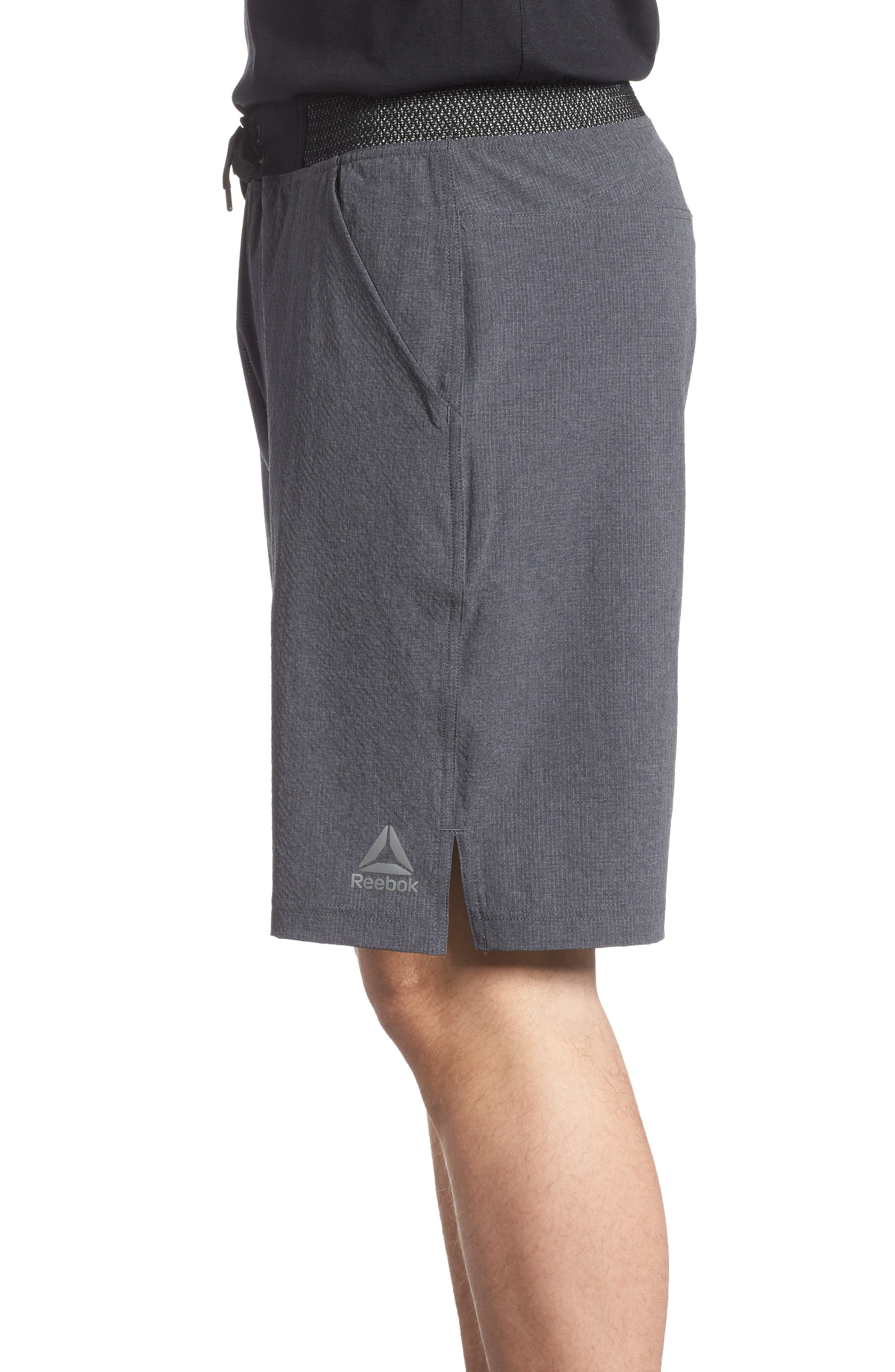 Epic Knit Shorts,                             Alternate thumbnail 3, color,                             Dark Grey Heather