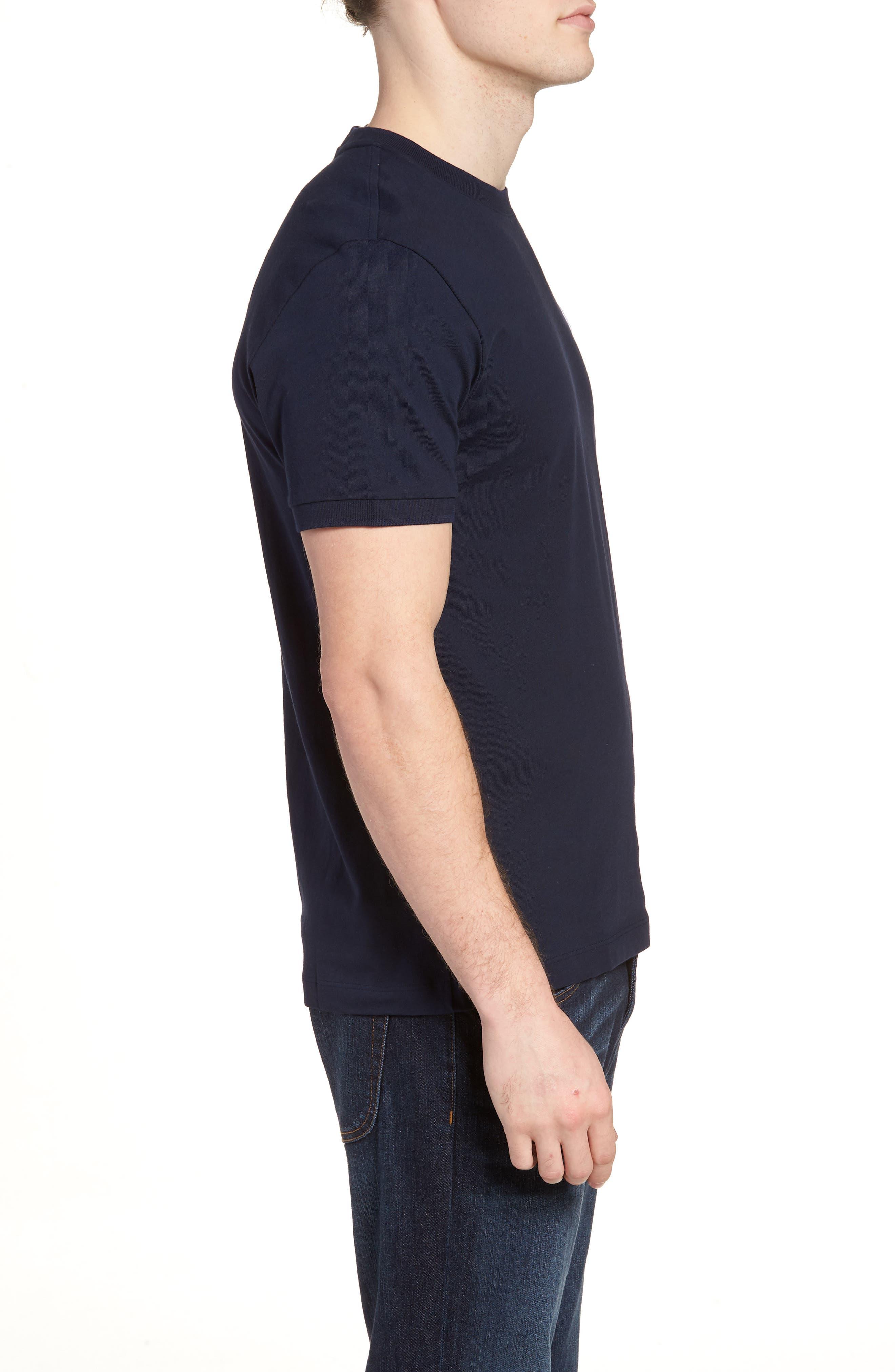 Vintage Croc Crewneck T-Shirt,                             Alternate thumbnail 3, color,                             Navy Blue