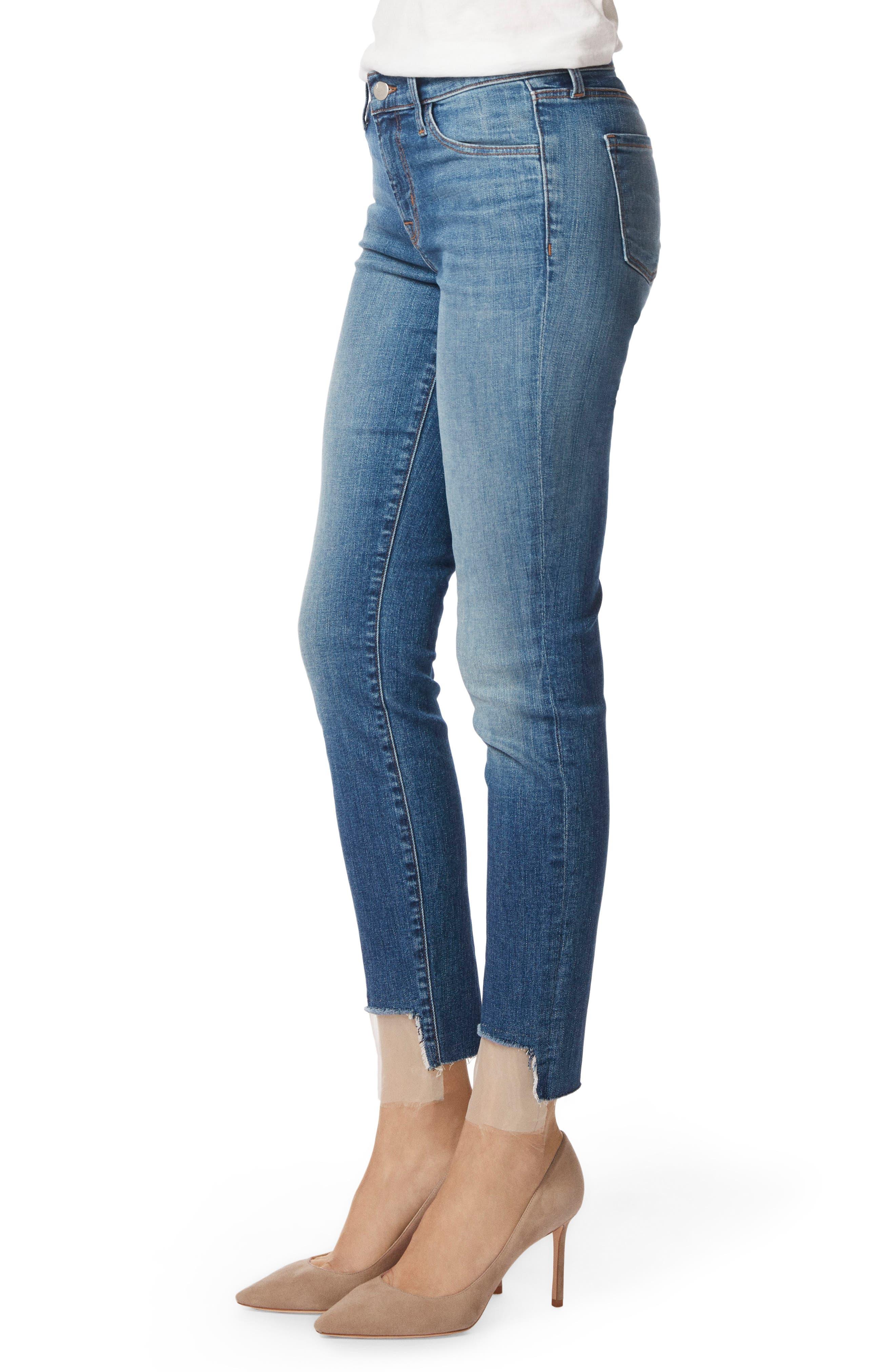 811 Step Hem Skinny Jeans,                             Alternate thumbnail 3, color,                             Gossamer