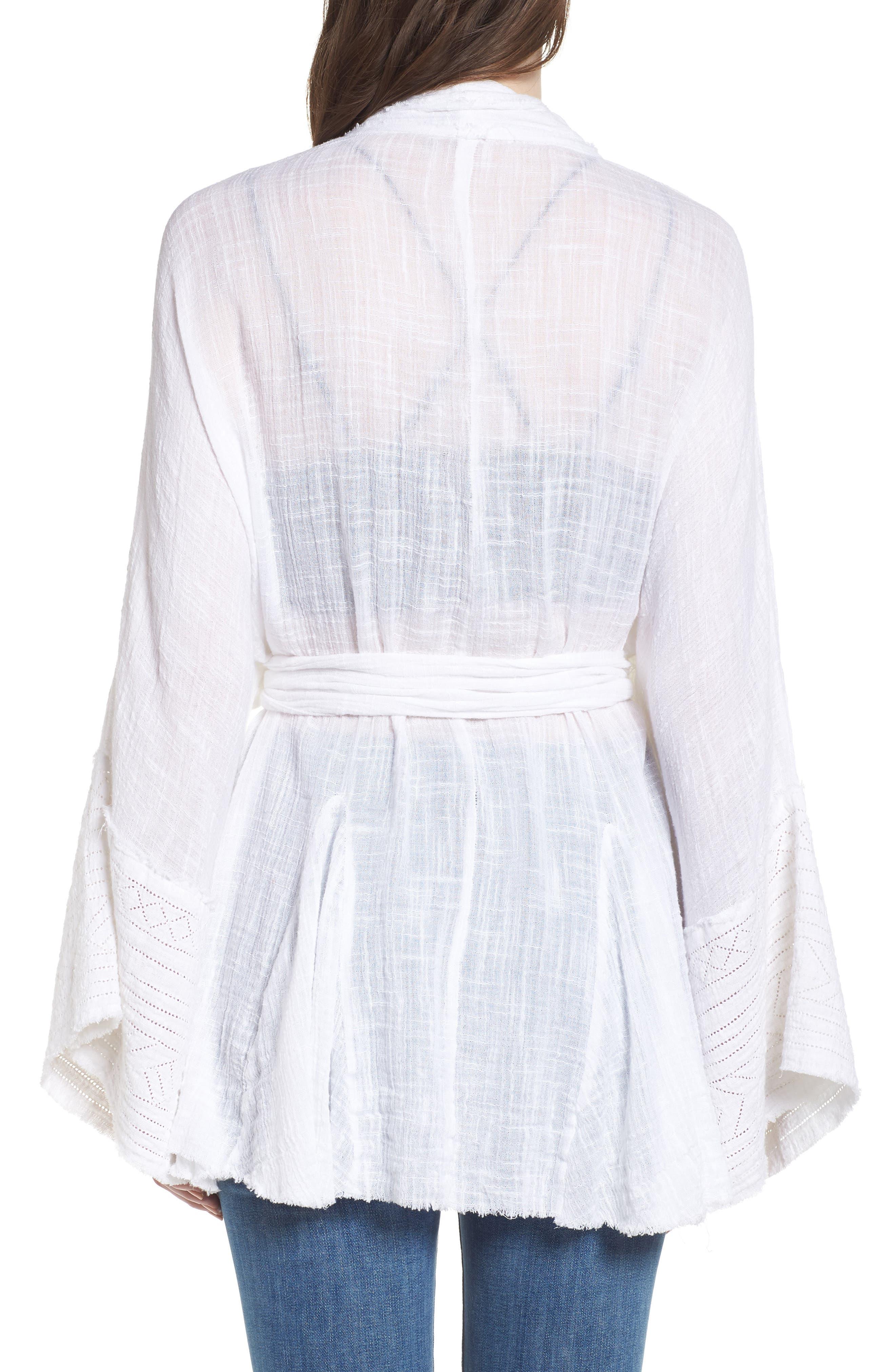 Tie Wrap Kimono,                             Alternate thumbnail 2, color,                             Ivory