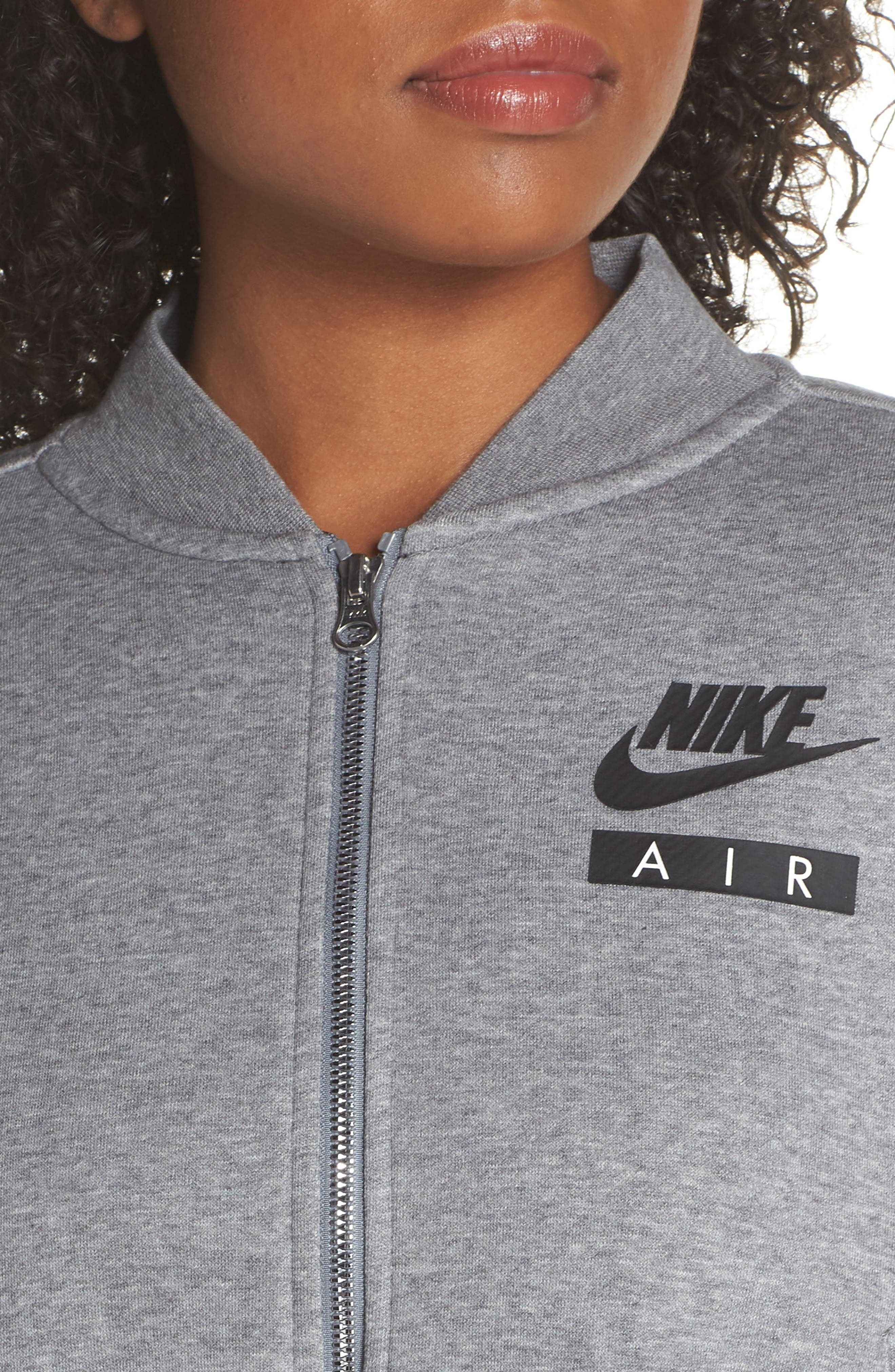 Sportswear Rally Jacket,                             Alternate thumbnail 4, color,                             Carbon Heather/ Cool Grey