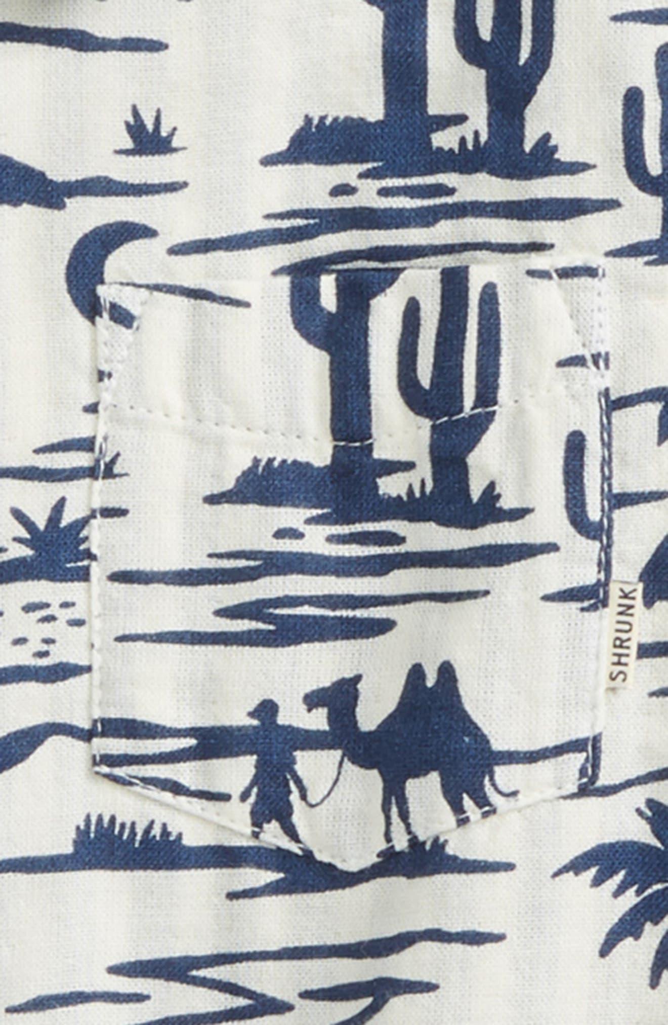 Graphic Woven Shirt,                             Alternate thumbnail 2, color,                             Ecru/ Blue