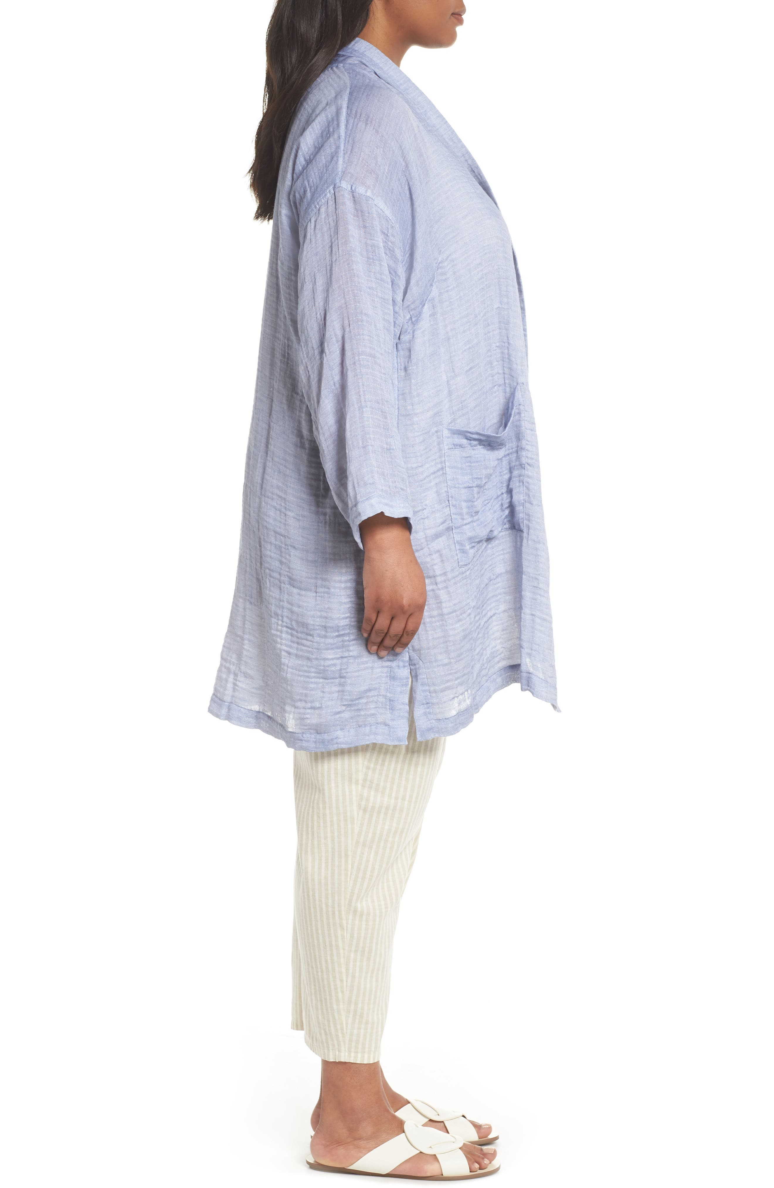 Kimono Jacket,                             Alternate thumbnail 3, color,                             Chambray