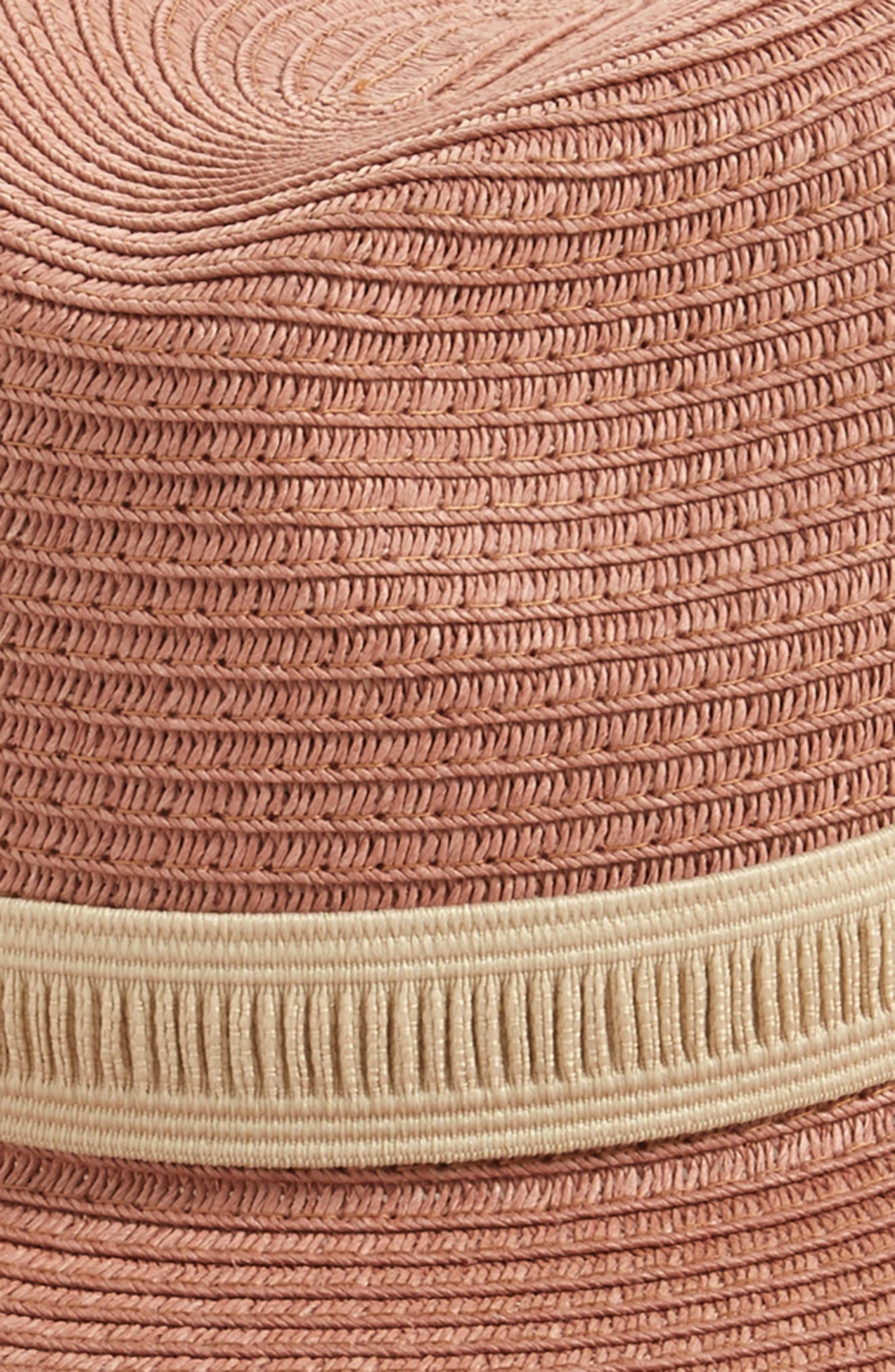 Mesa Packable Straw Hat,                             Alternate thumbnail 2, color,                             Dried Coral Straw