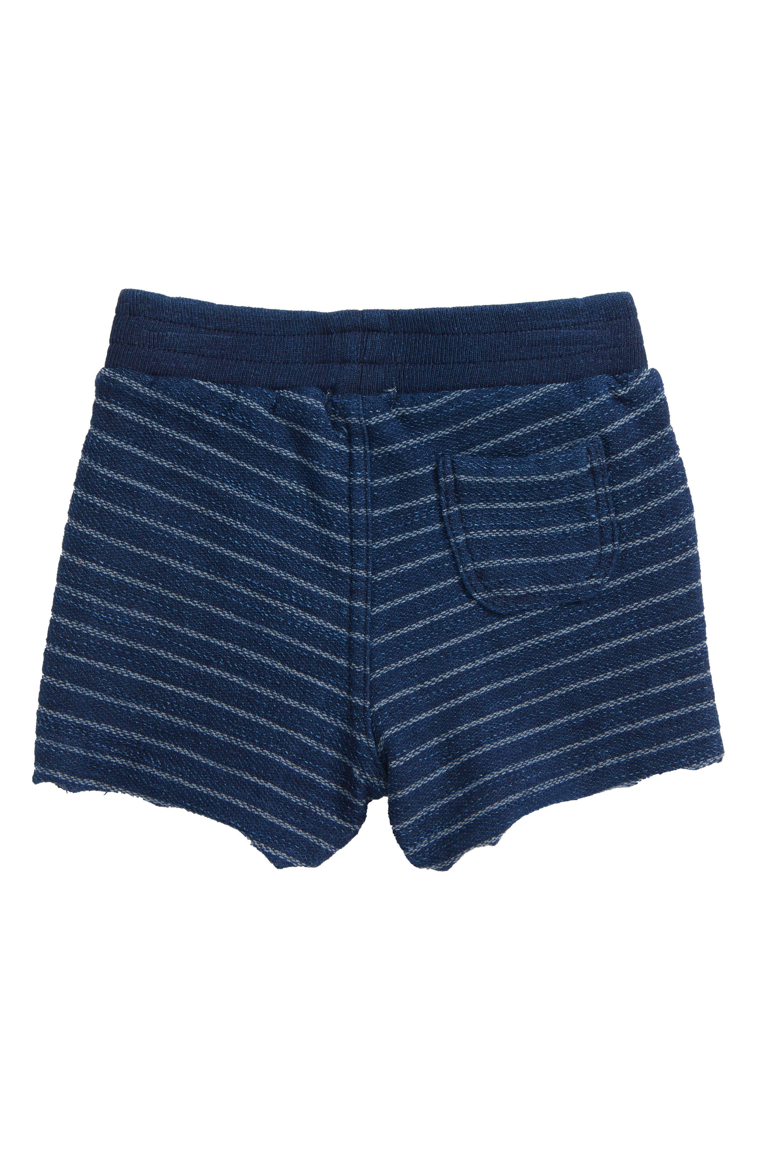 Indigo Stripe French Terry Shorts,                             Alternate thumbnail 2, color,                             Dark Stone/ Indigo