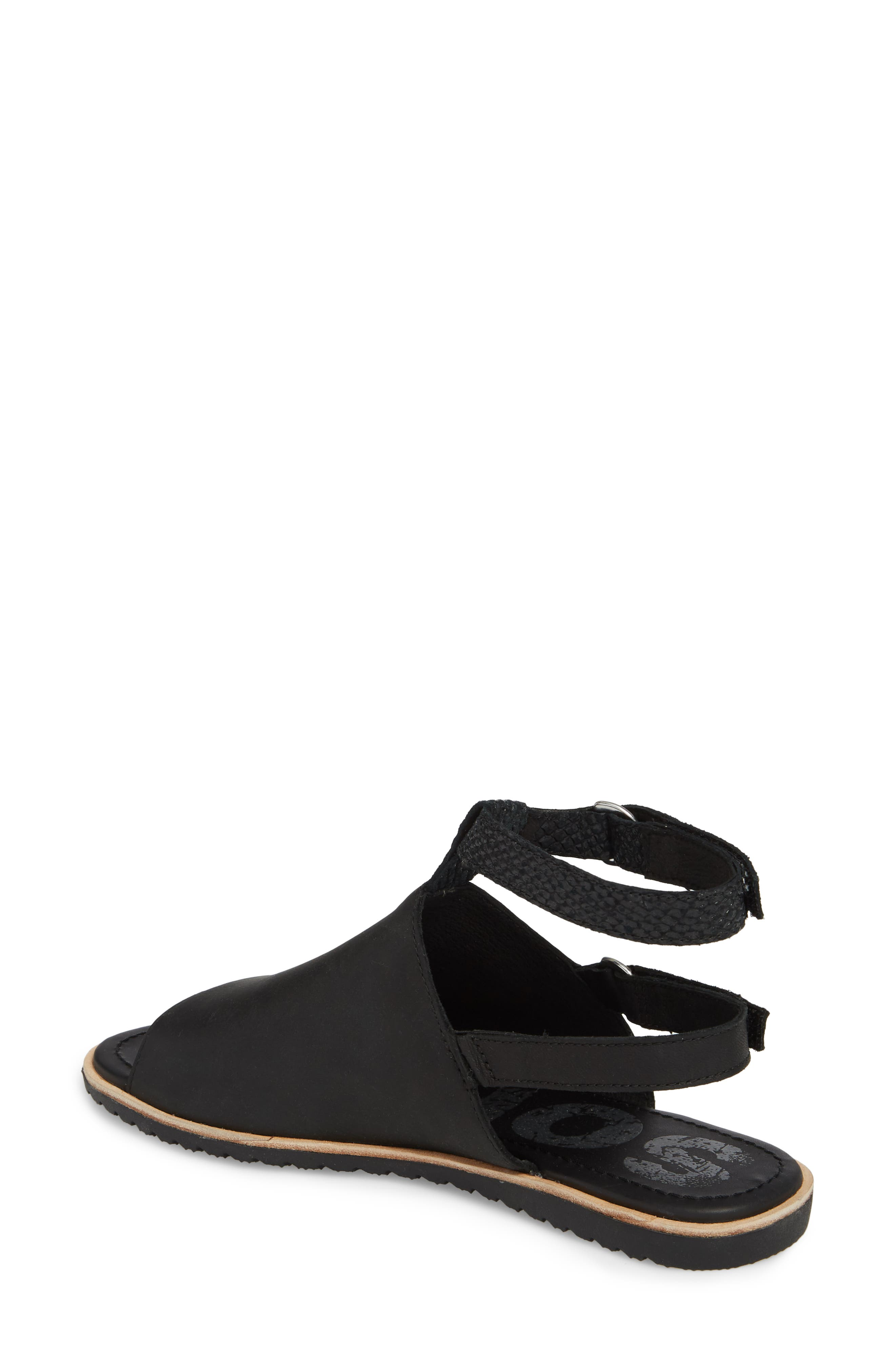Ella Strappy Sandal,                             Alternate thumbnail 2, color,                             Black