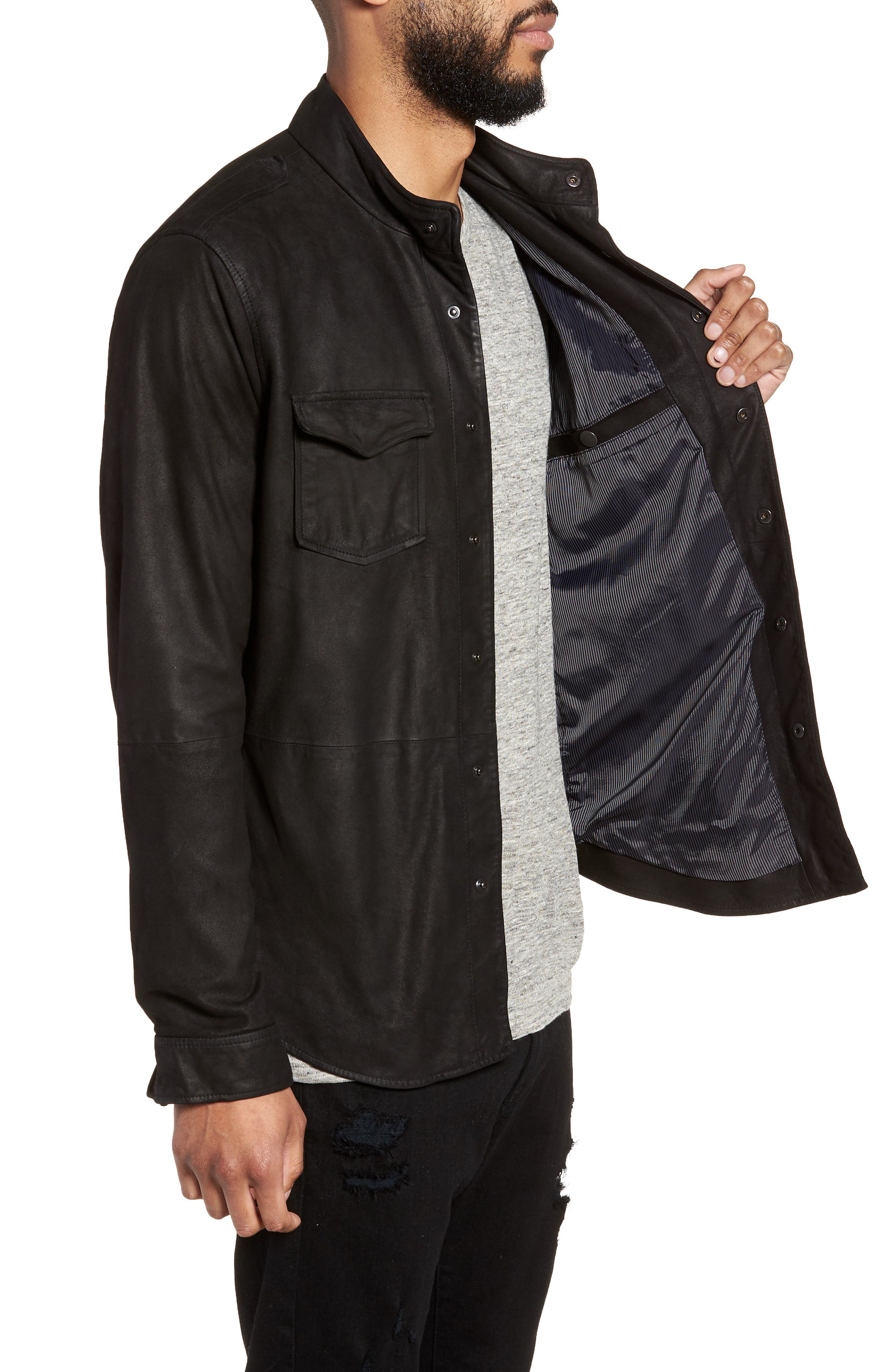 Alternate Image 3  - John Varvatos x Nick Jonas Suede Shirt Jacket