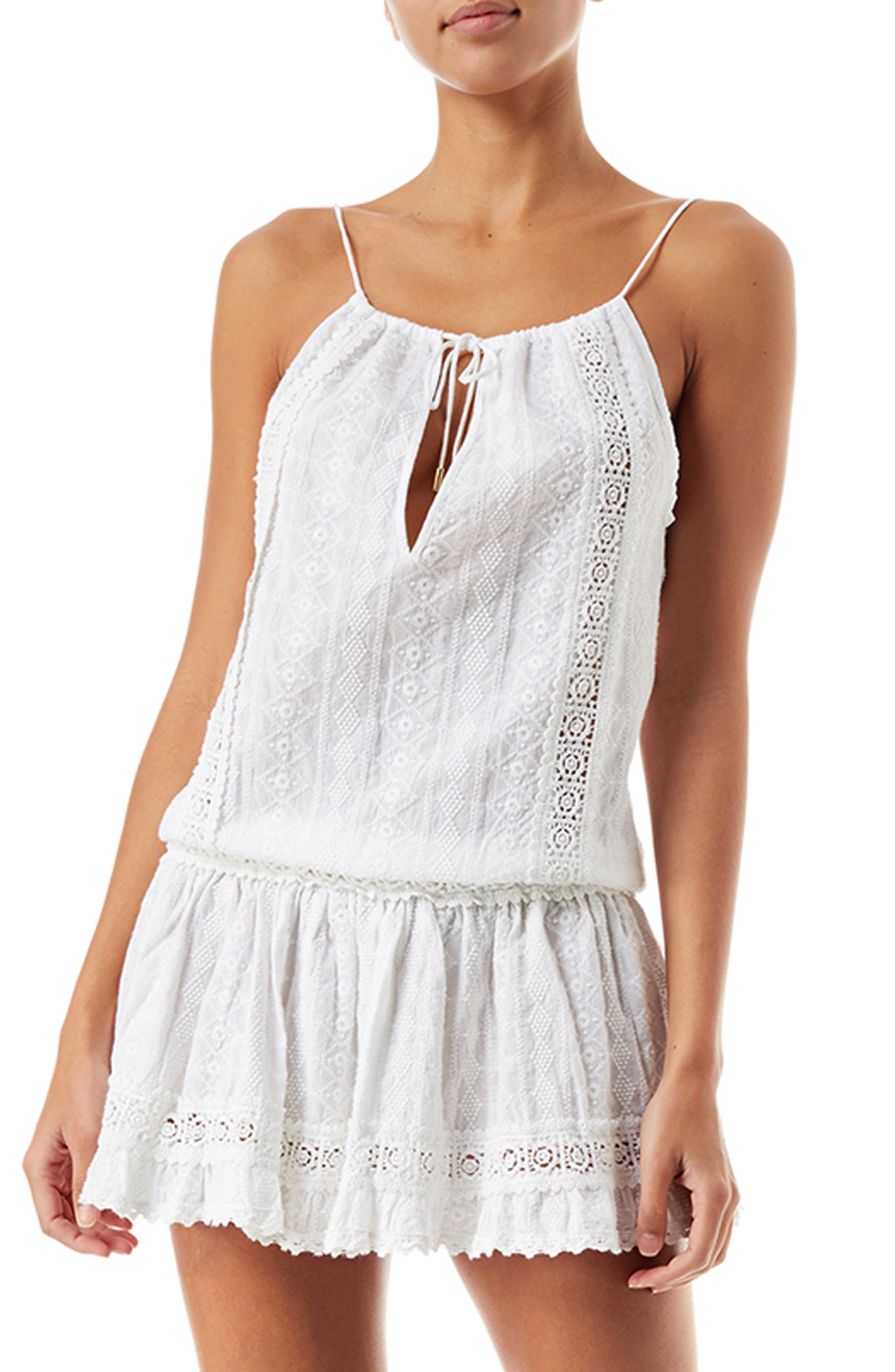 Chelsea Cover-Up Romper,                             Main thumbnail 1, color,                             White