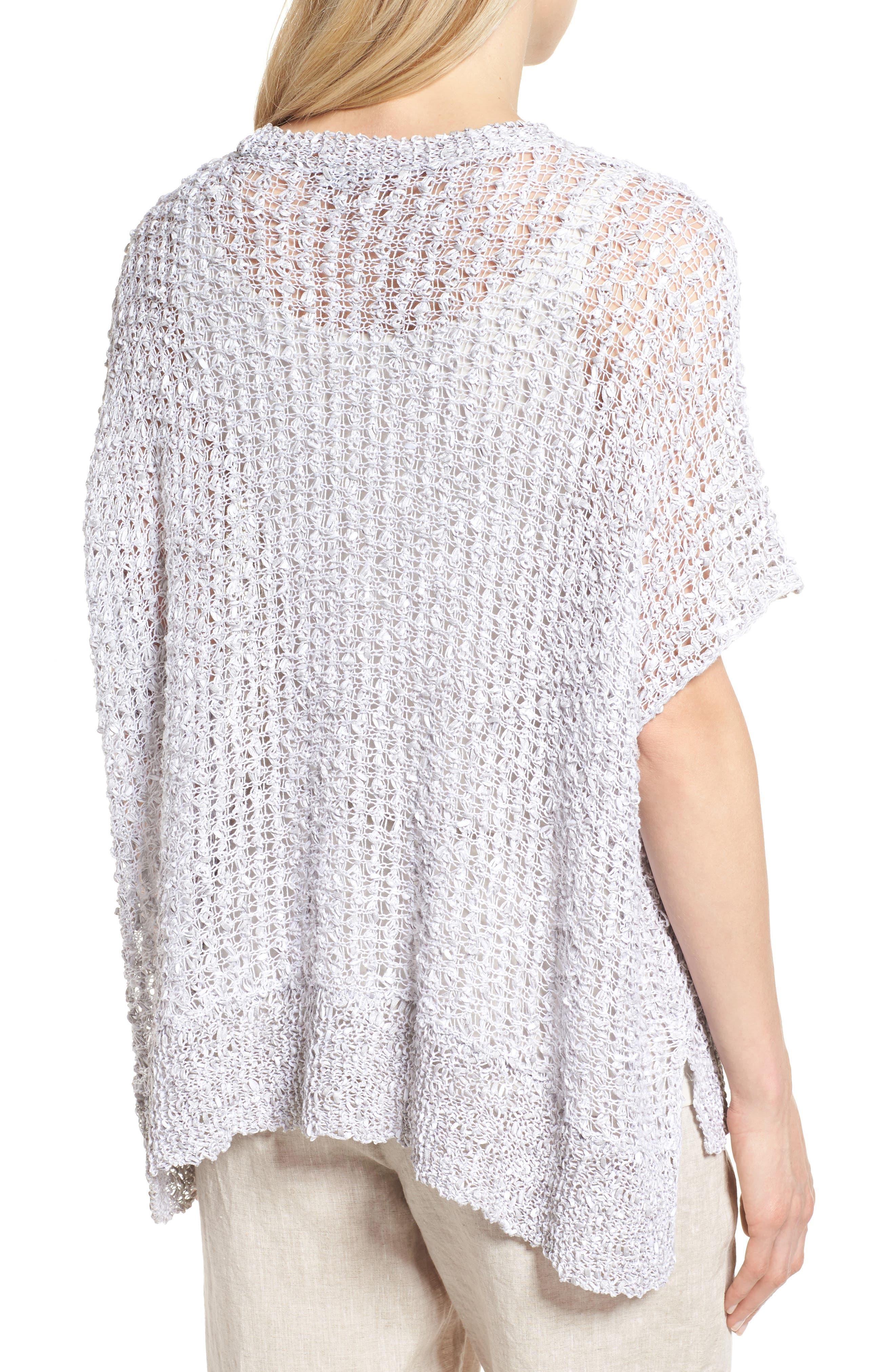 Organic Cotton & Linen Crochet Top,                             Alternate thumbnail 2, color,                             Dark Pearl
