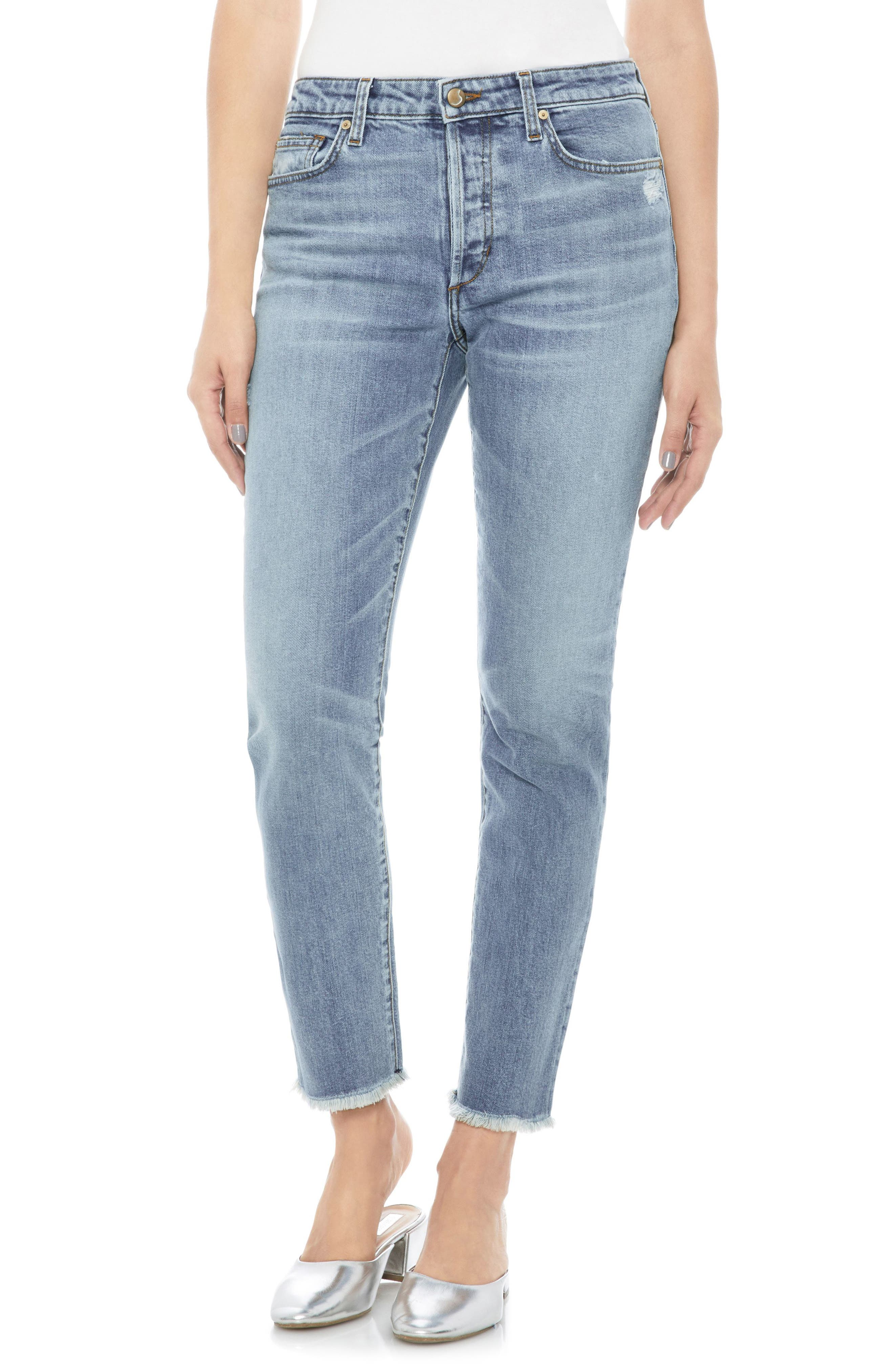 Kass Ankle Straight Leg Jeans,                         Main,                         color, Danae
