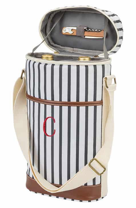 Cathy s Concepts Monogram Striped Wine Cooler 998ac32b1c226