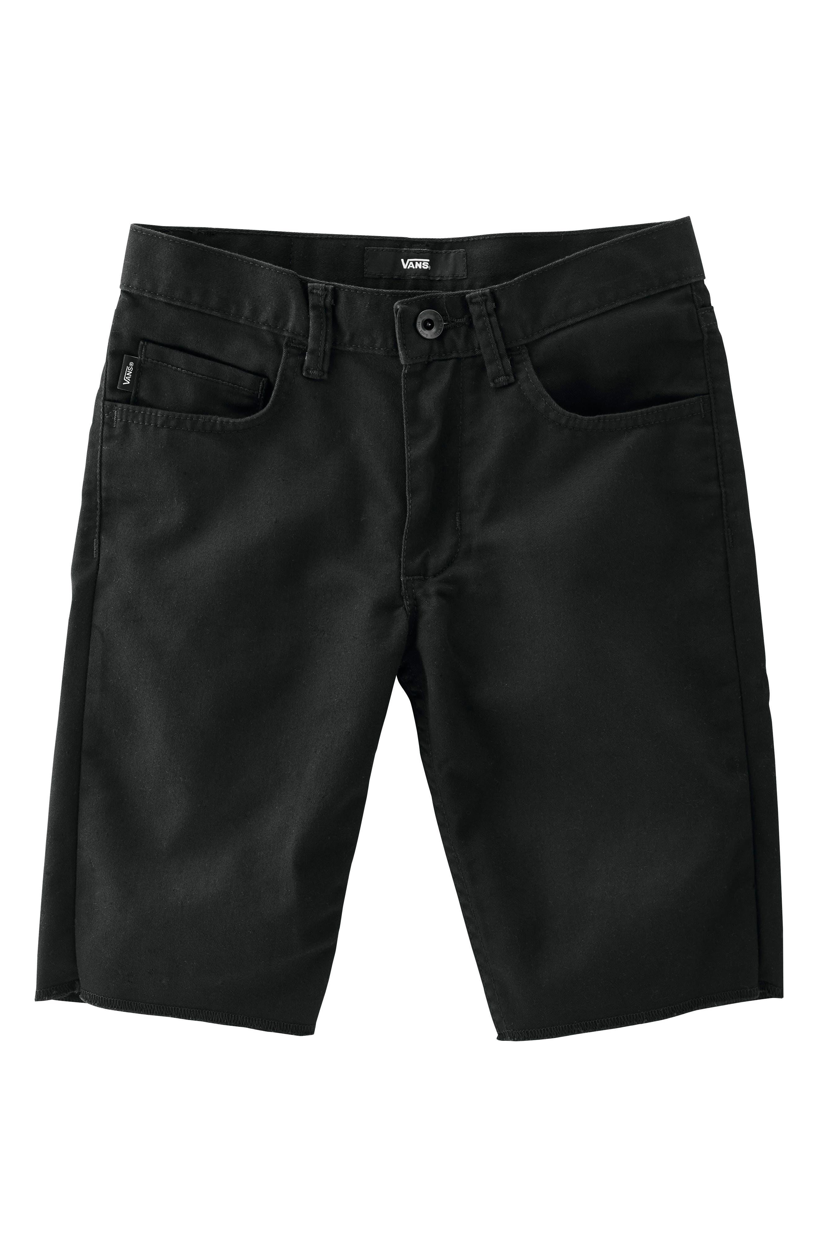 Covina II - Anthony Van Engelen Twill Shorts,                             Main thumbnail 1, color,                             Black