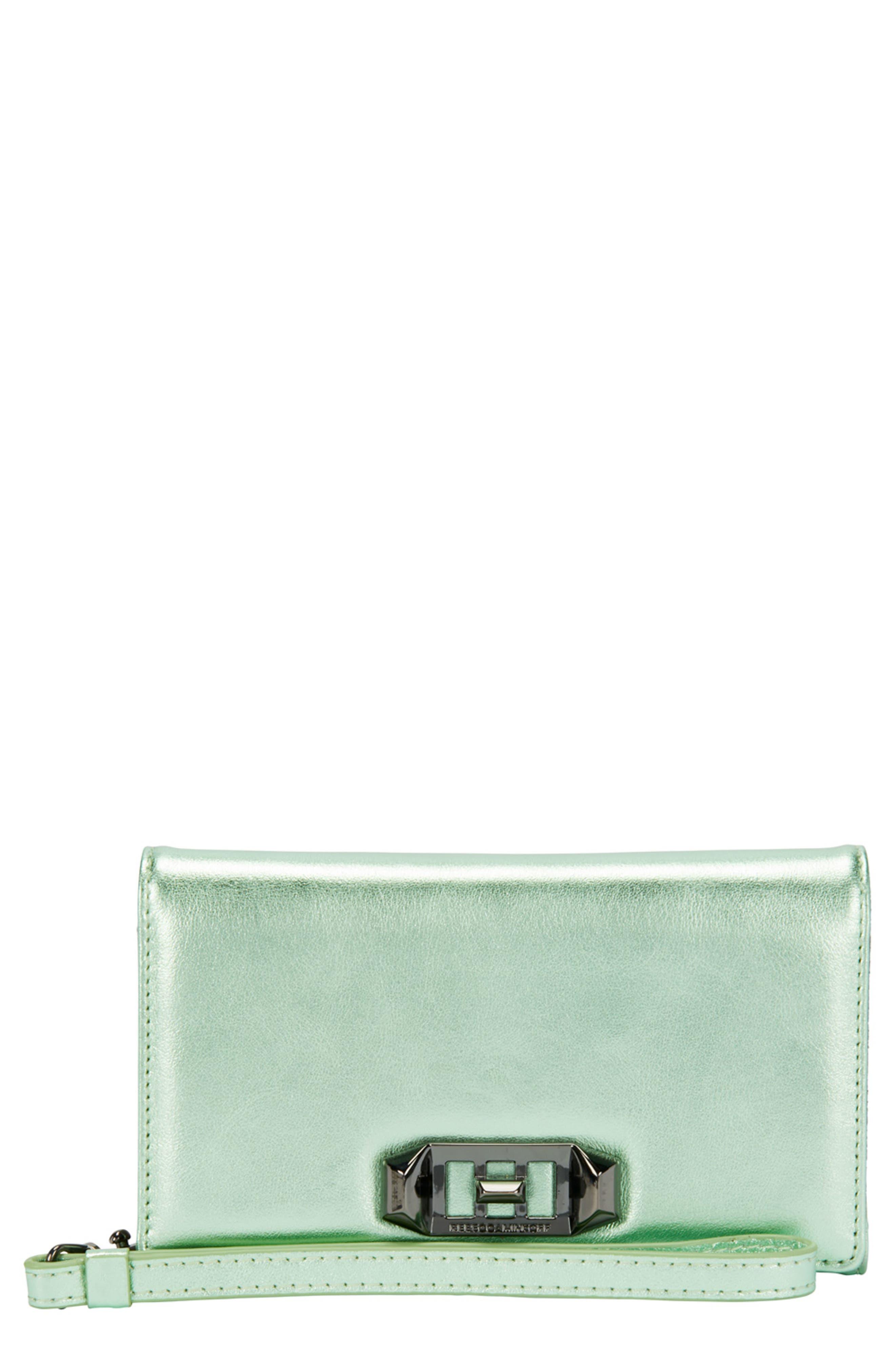 Main Image - Rebecca Minkoff Love Lock iPhone X Leather Wristlet Folio