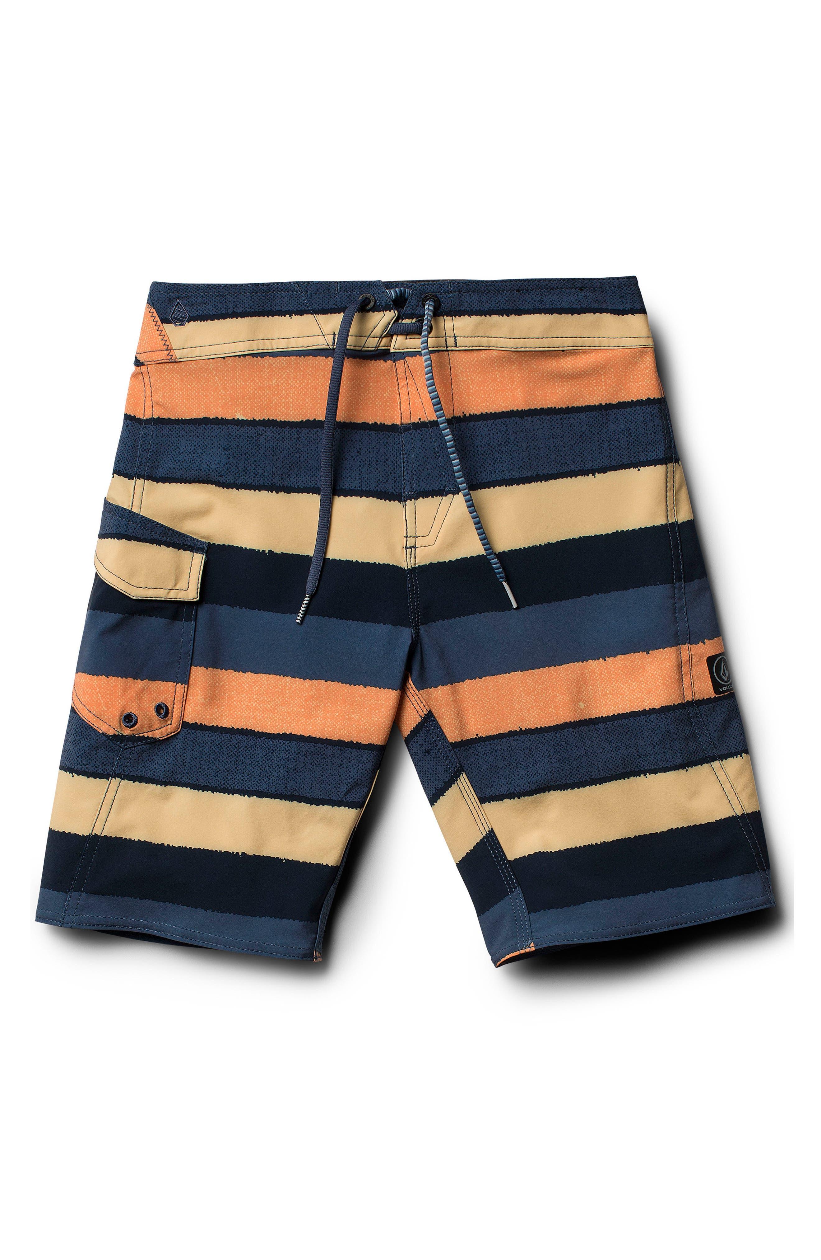 Magnetic Liney Mod Board Shorts,                             Main thumbnail 1, color,                             Sunburst
