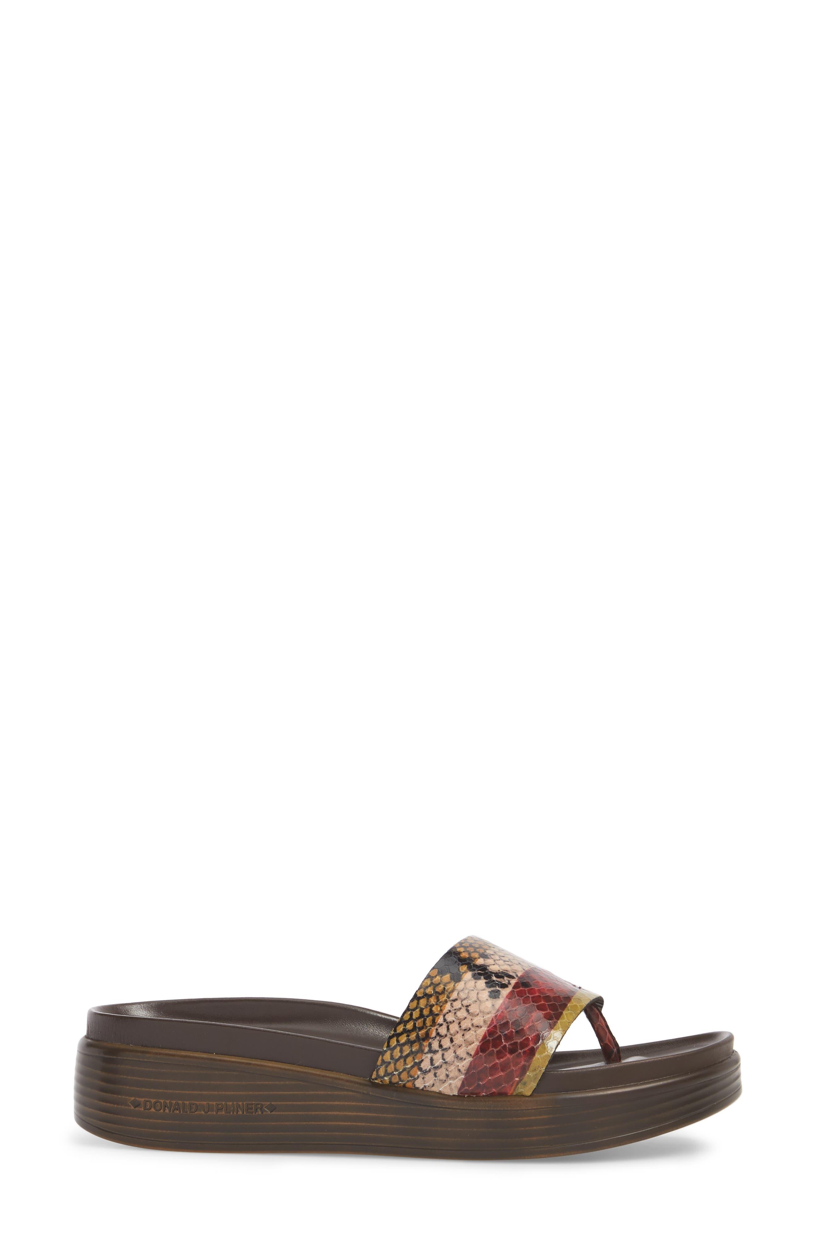 Fifi Slide Sandal,                             Alternate thumbnail 3, color,                             Fawn Leather